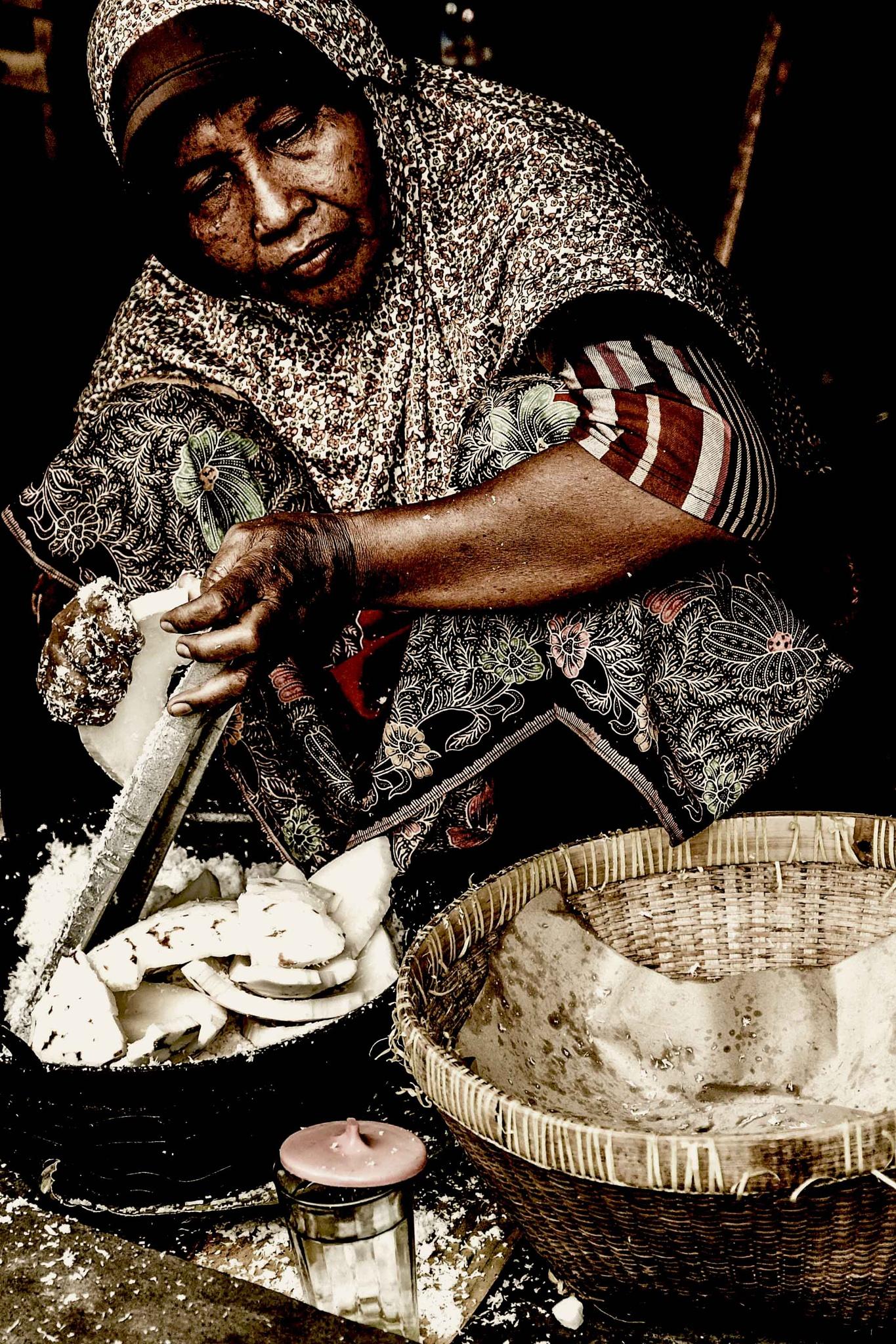 Shredding Coconut . by eddylowck
