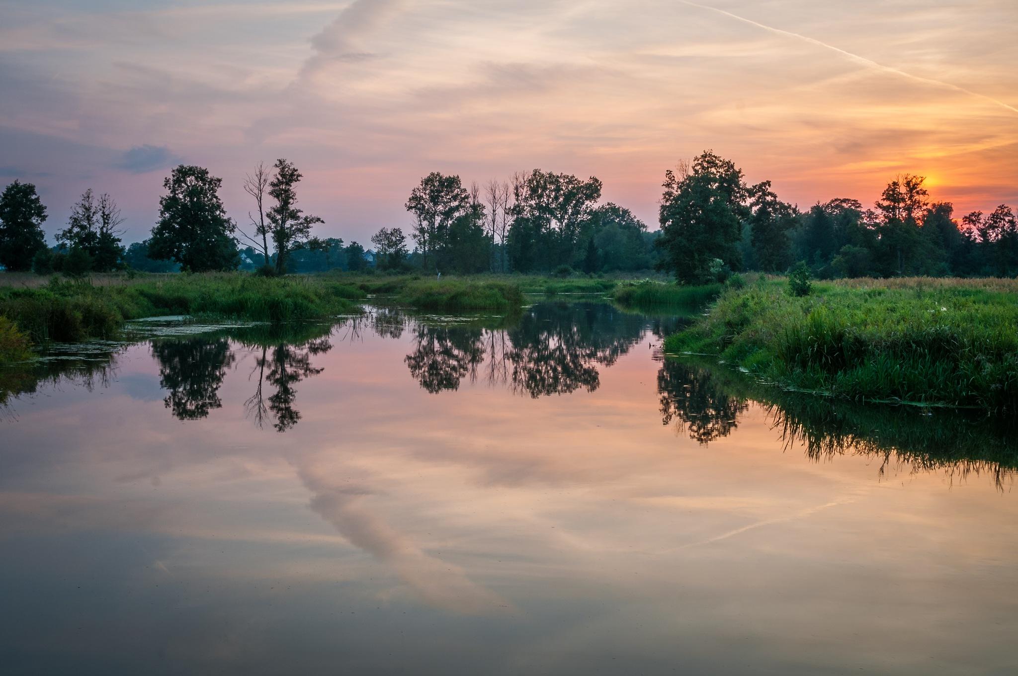 Rozlewisko rzeki Liwiec by Marcin Zagórski