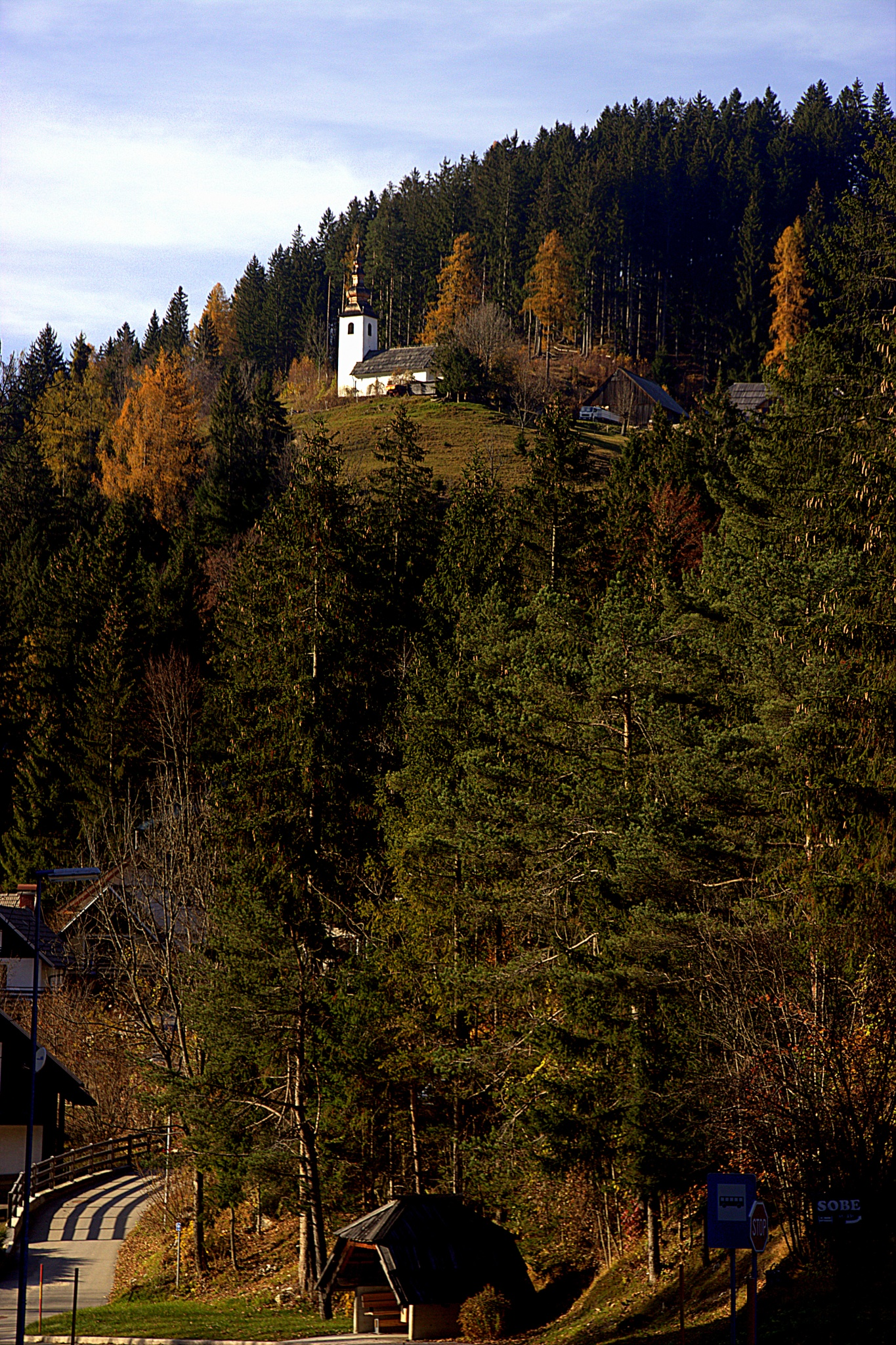 Church on the hill .. by leopold.brzin