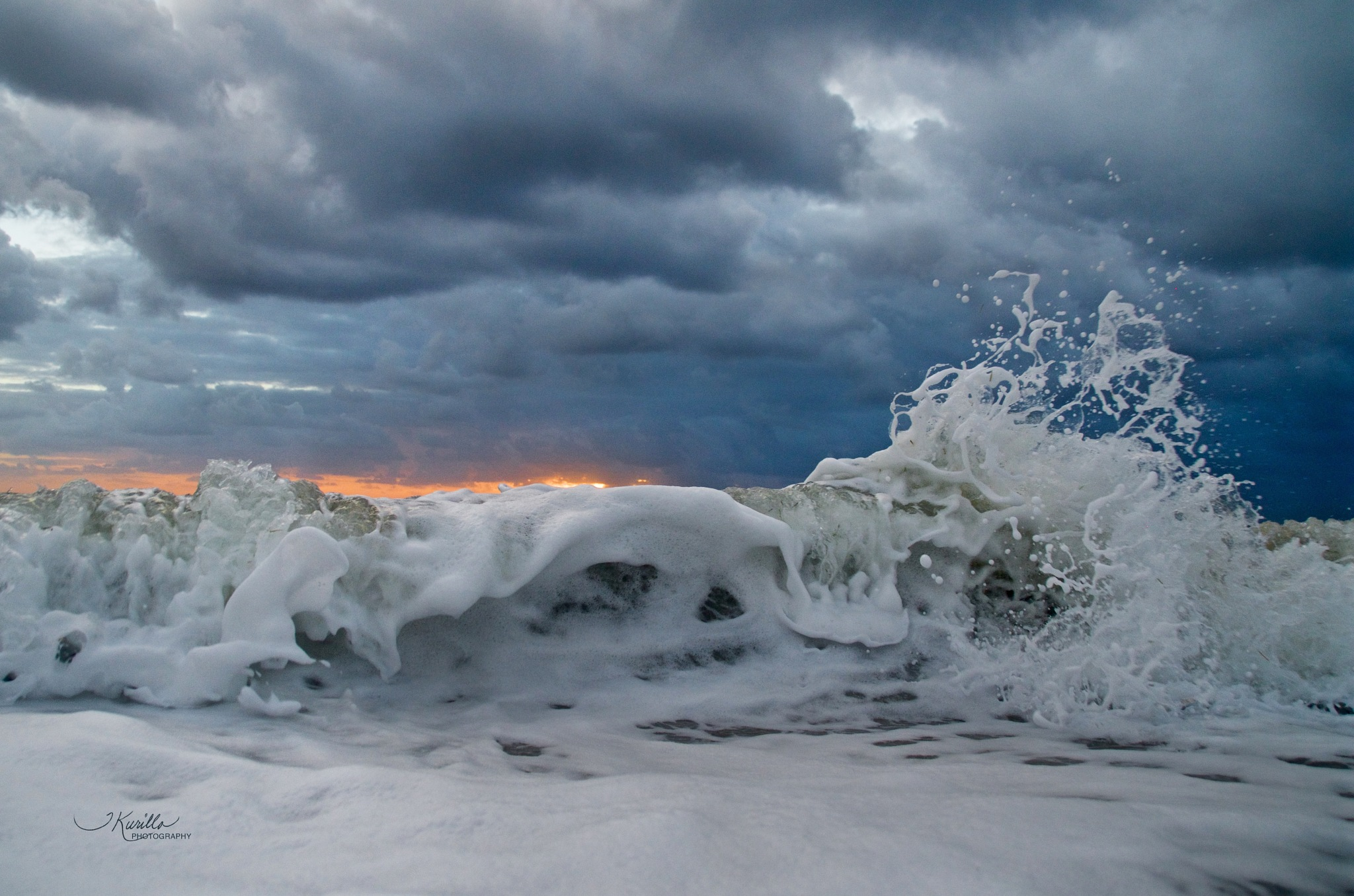 Wave With A Sliver Of Sunrise by tracey.kurilla