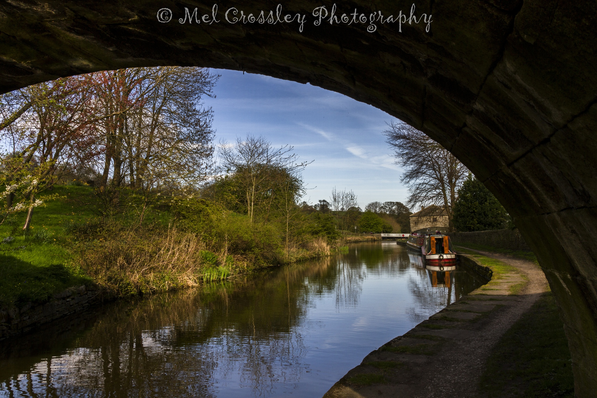 Photo in Architecture #canal #sunshine #water #barge #bridge