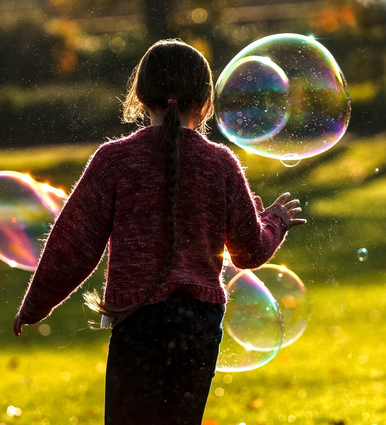 Photo in People #bubble #light #rimlight #sun #sunny