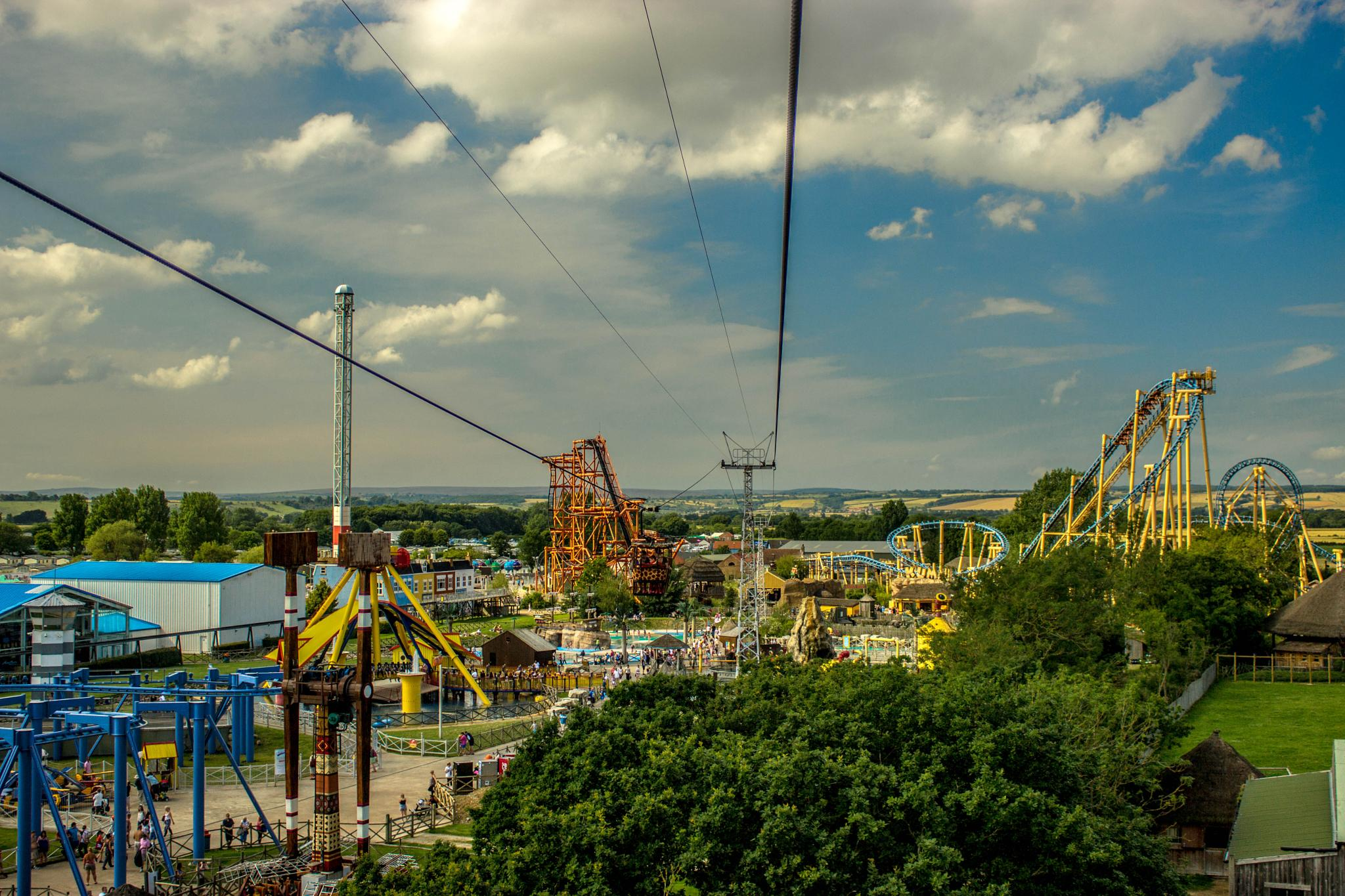 Nearly rare sunshine in U.K. theme park! by Xanthe Towler