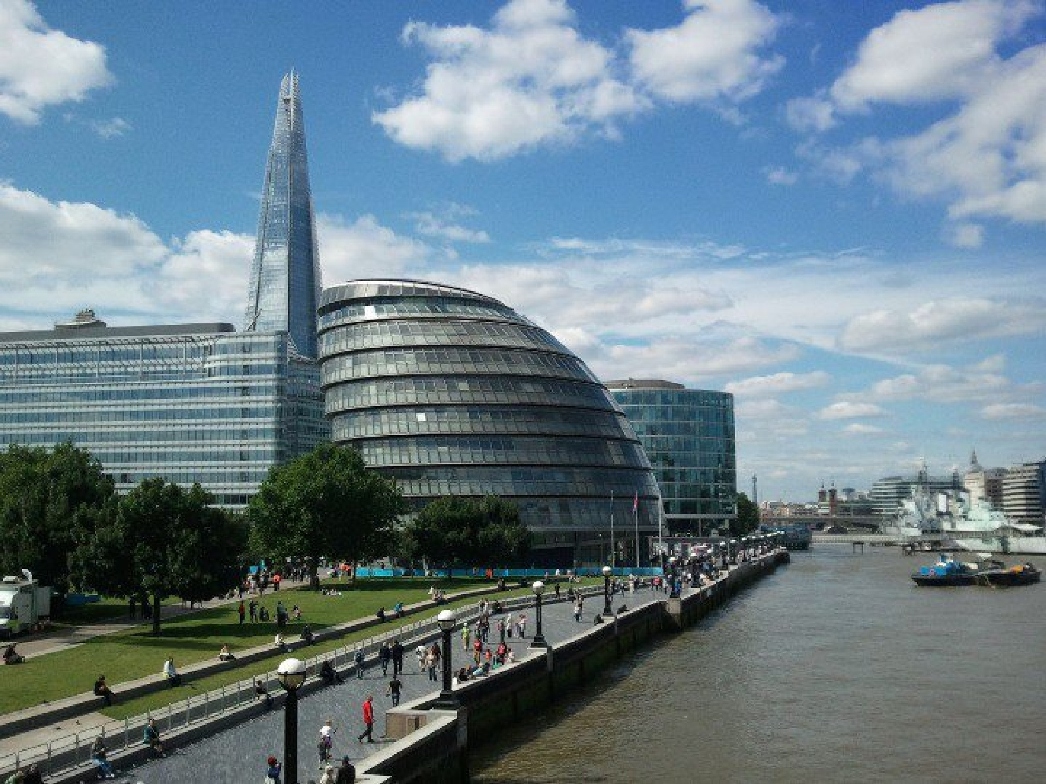 London Shard and Thames by Xanthe Towler