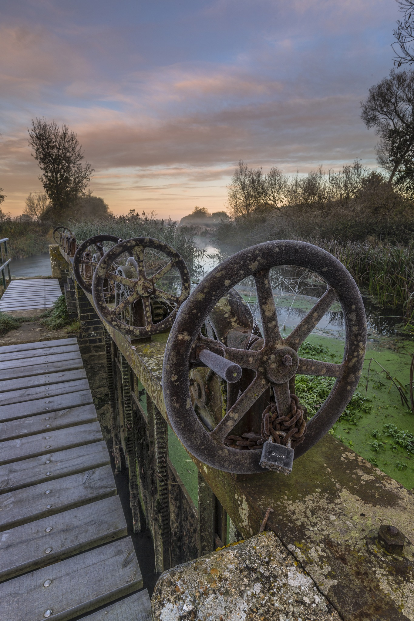 Frost on the Sluice by Daniel Wretham Photography