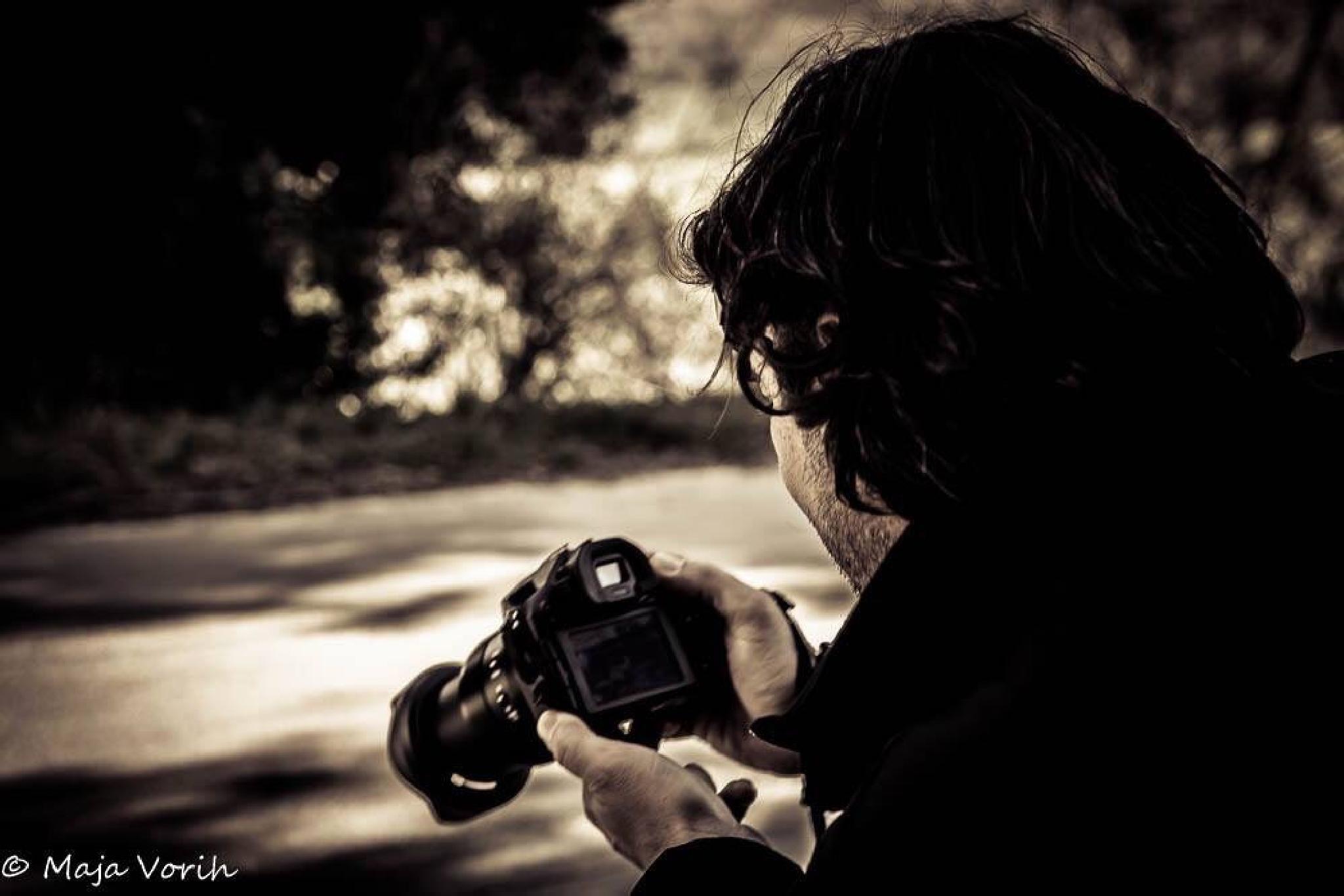 Photo in Portrait #photographer #fellow #at work #black&white