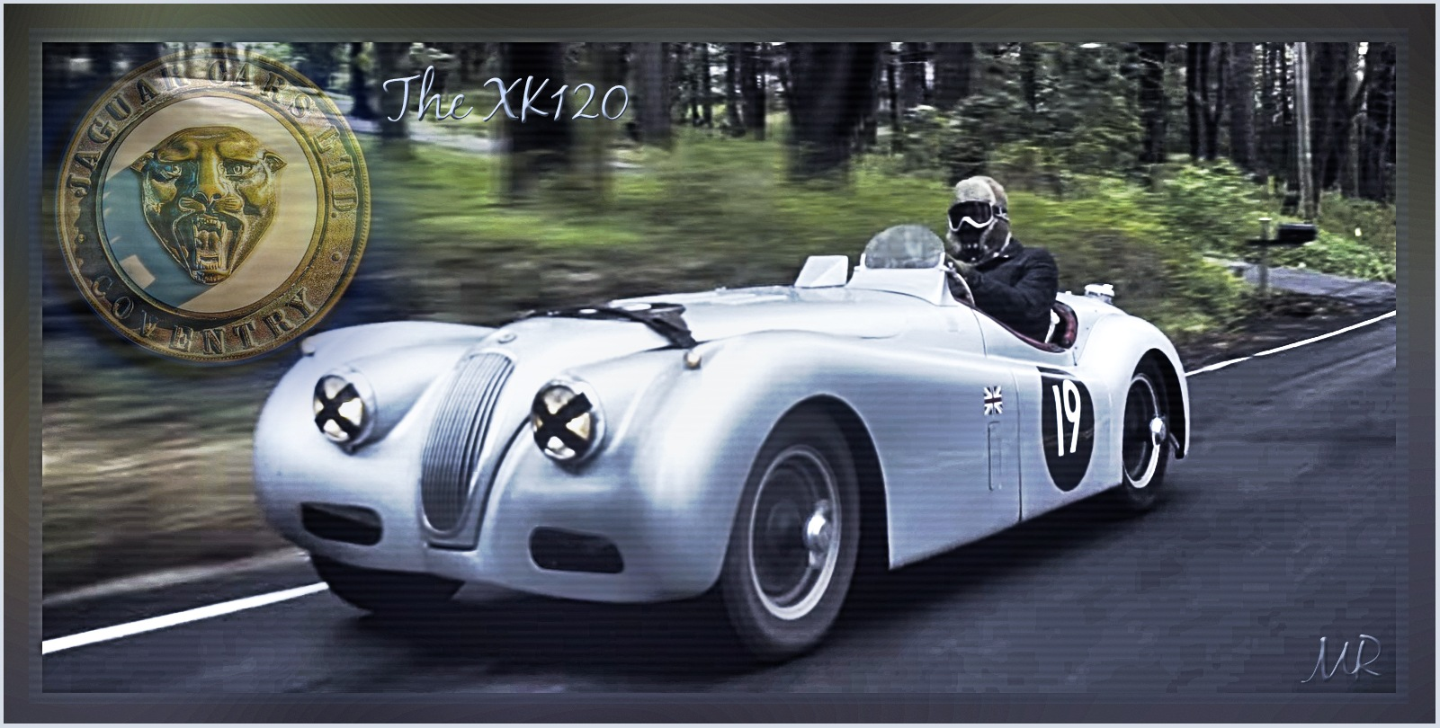 The Jaguar XK120 by Mikael Rennerhorn