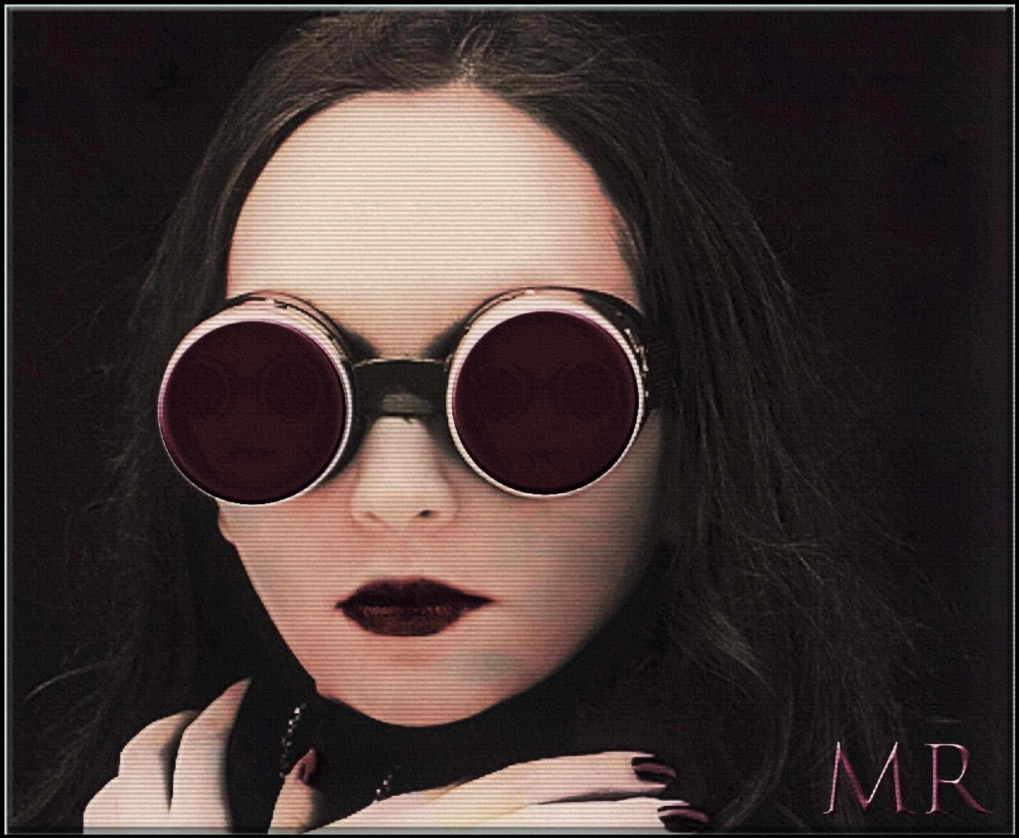 Dark Eyeglasses by Mikael Rennerhorn