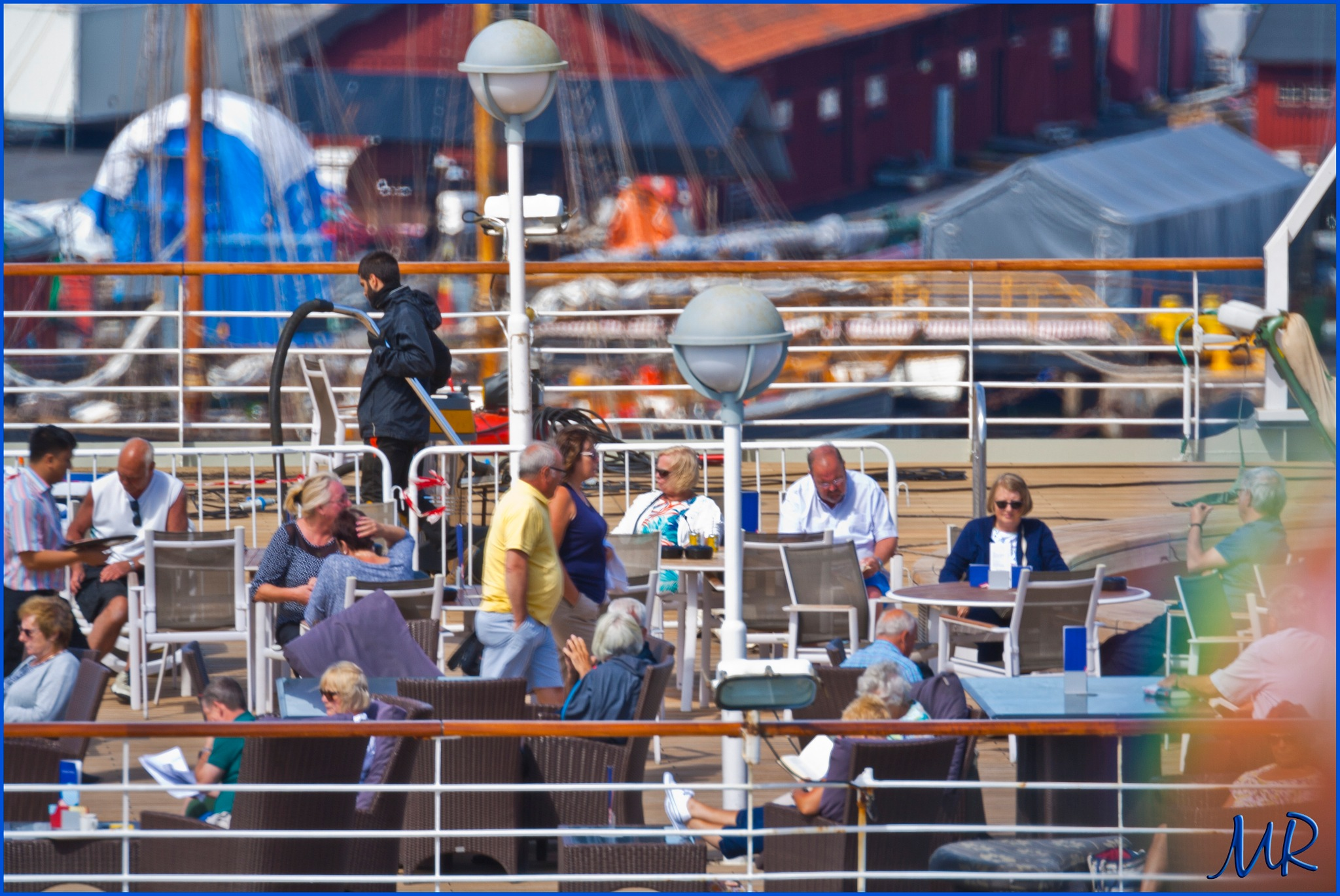 Aboard the M/S Arcadia waiting for departure in 1 hour, leaving for Riga by Mikael Rennerhorn