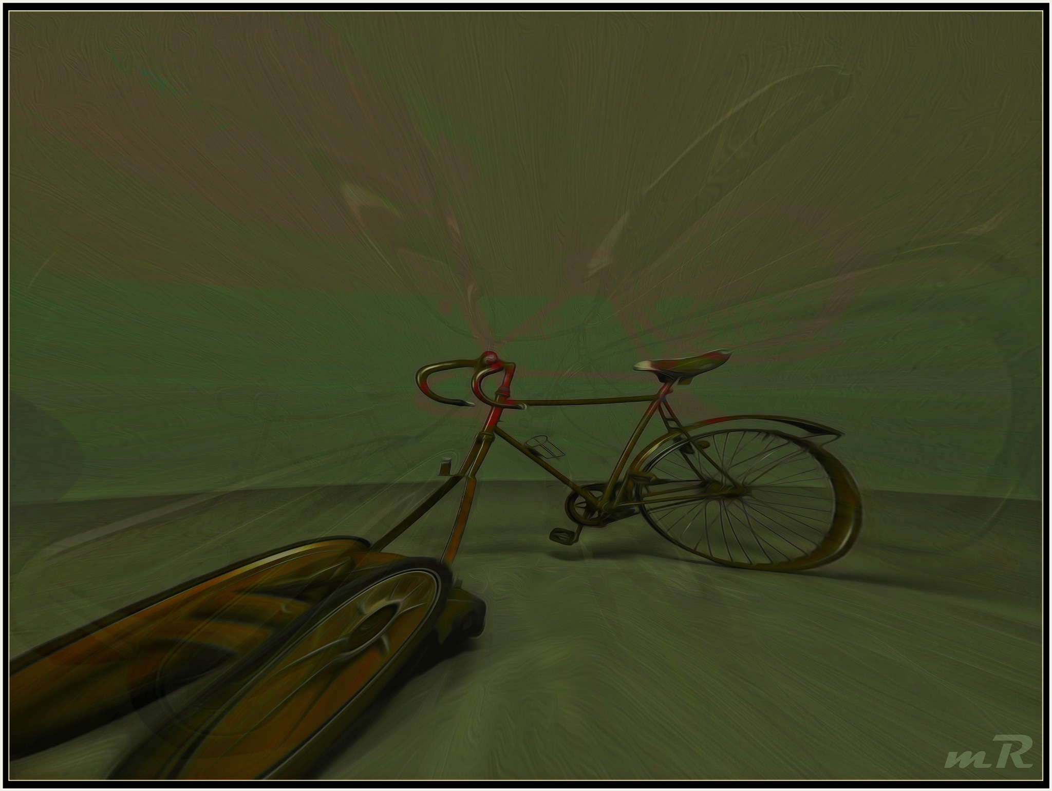 Fkd up Bicycle Dali Style by Mikael Rennerhorn