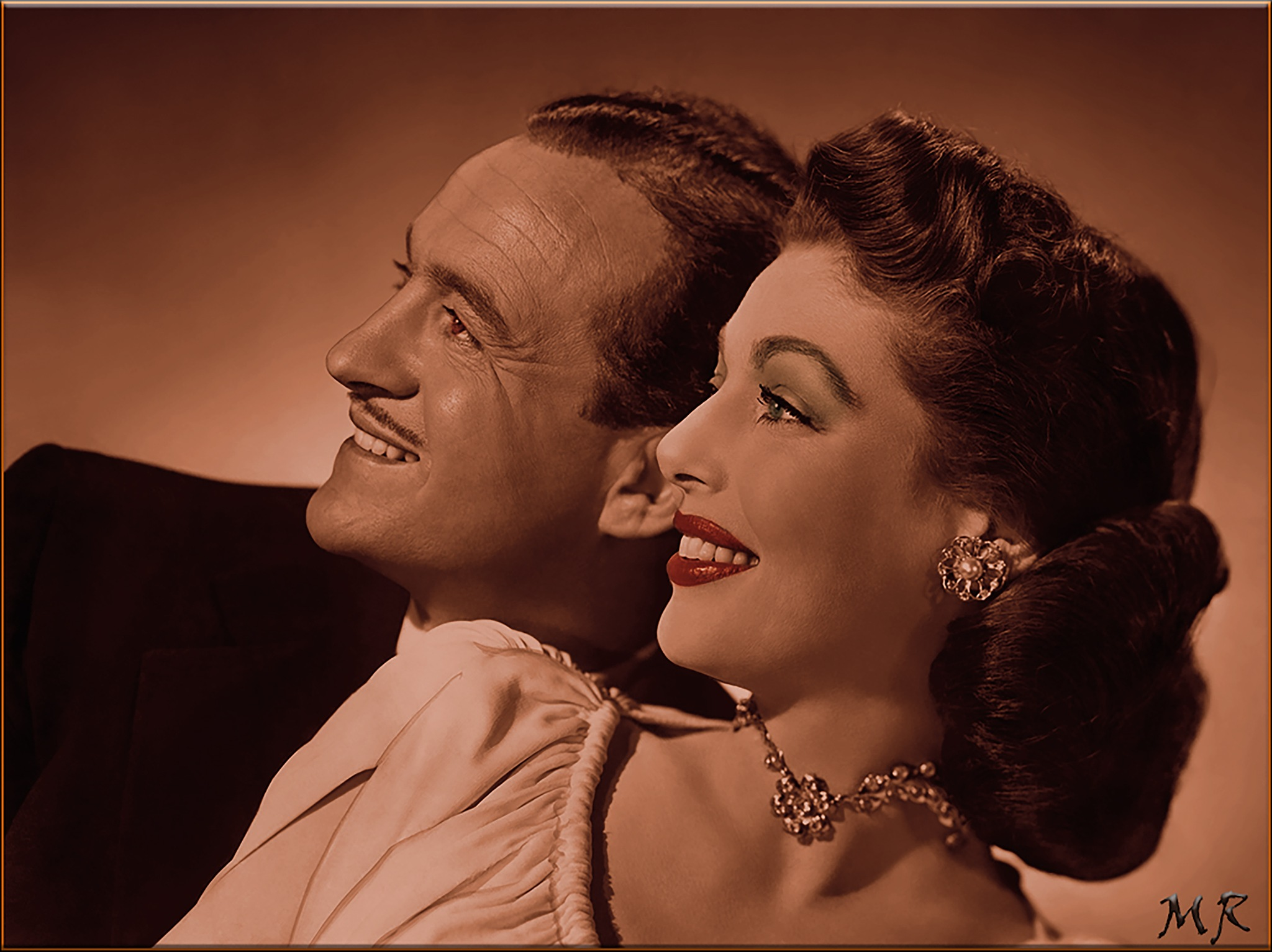 Loretta Young with David Niven by Mikael Rennerhorn