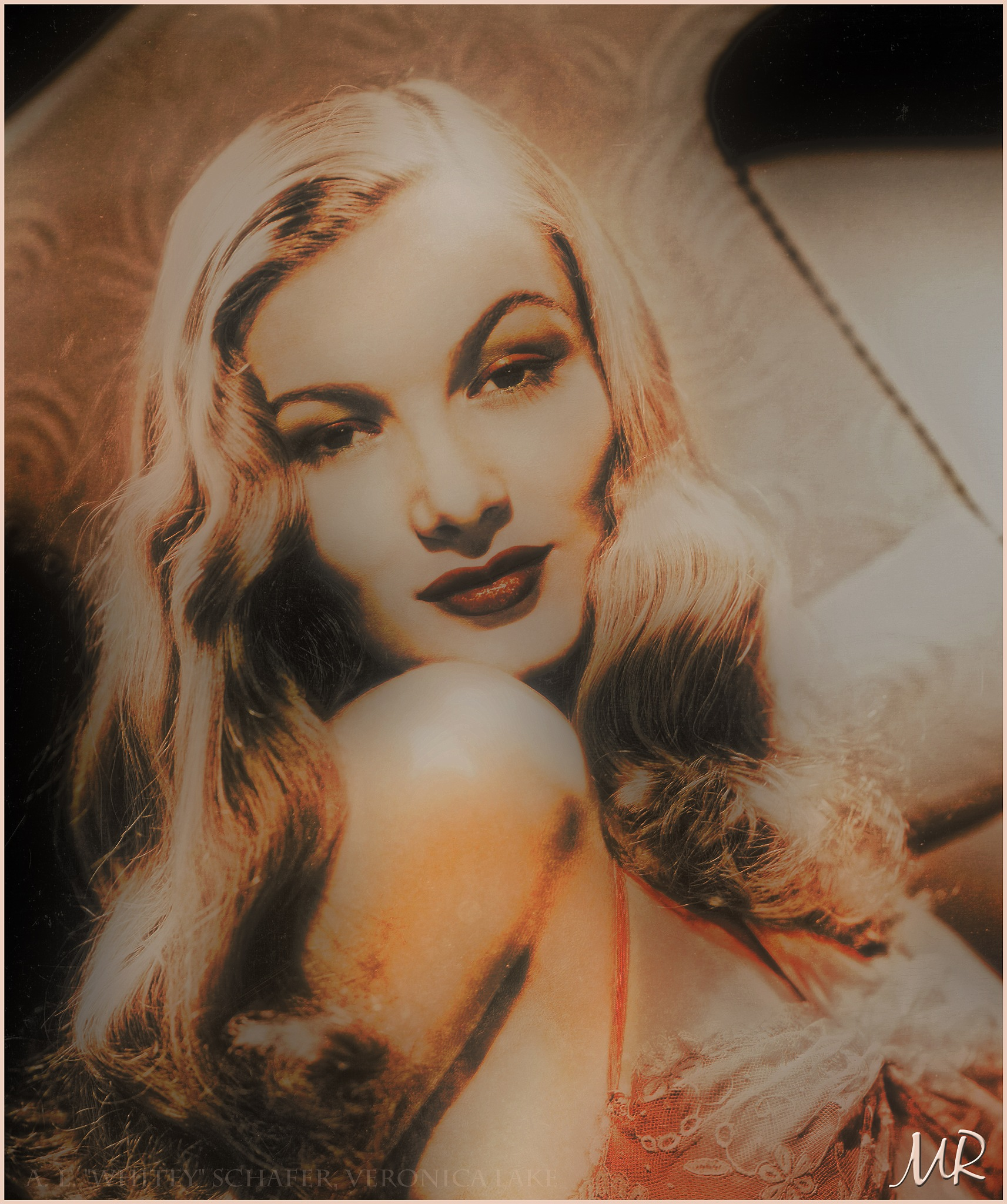 Veronica Lake 1942 by Mikael Rennerhorn