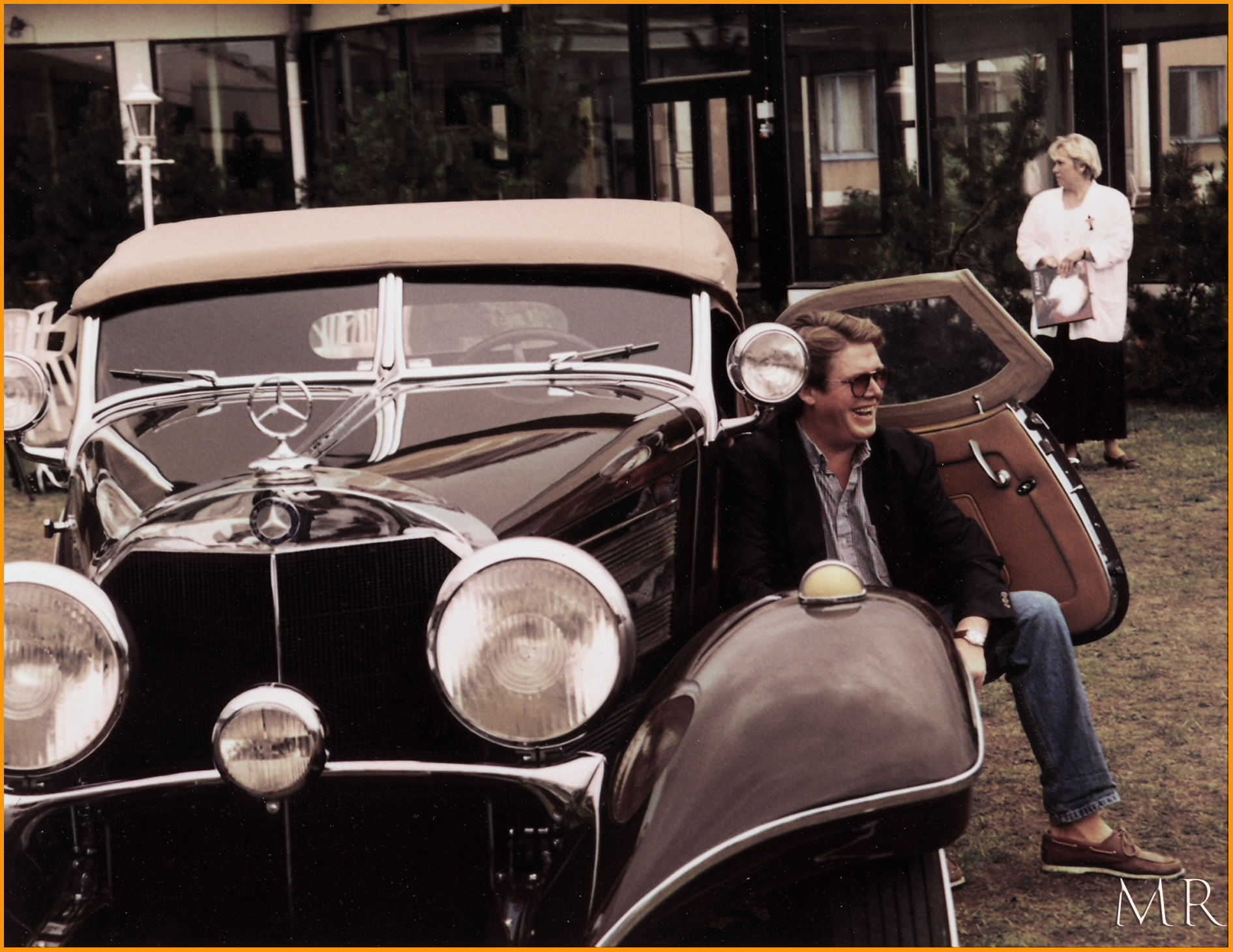 1936 Mercedes 500K  by Mikael Rennerhorn