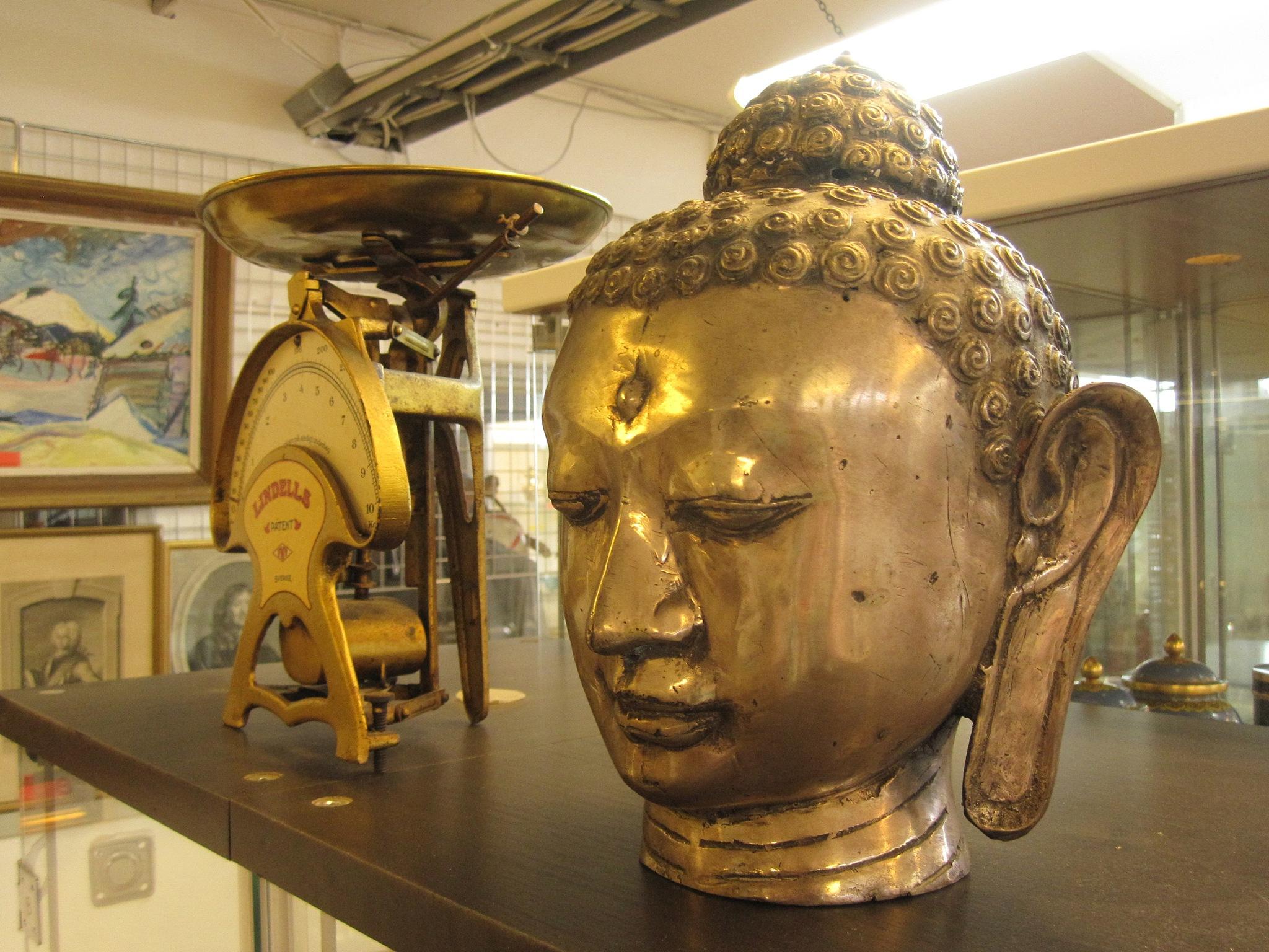 Tibetan Silver Buddha by Mikael Rennerhorn
