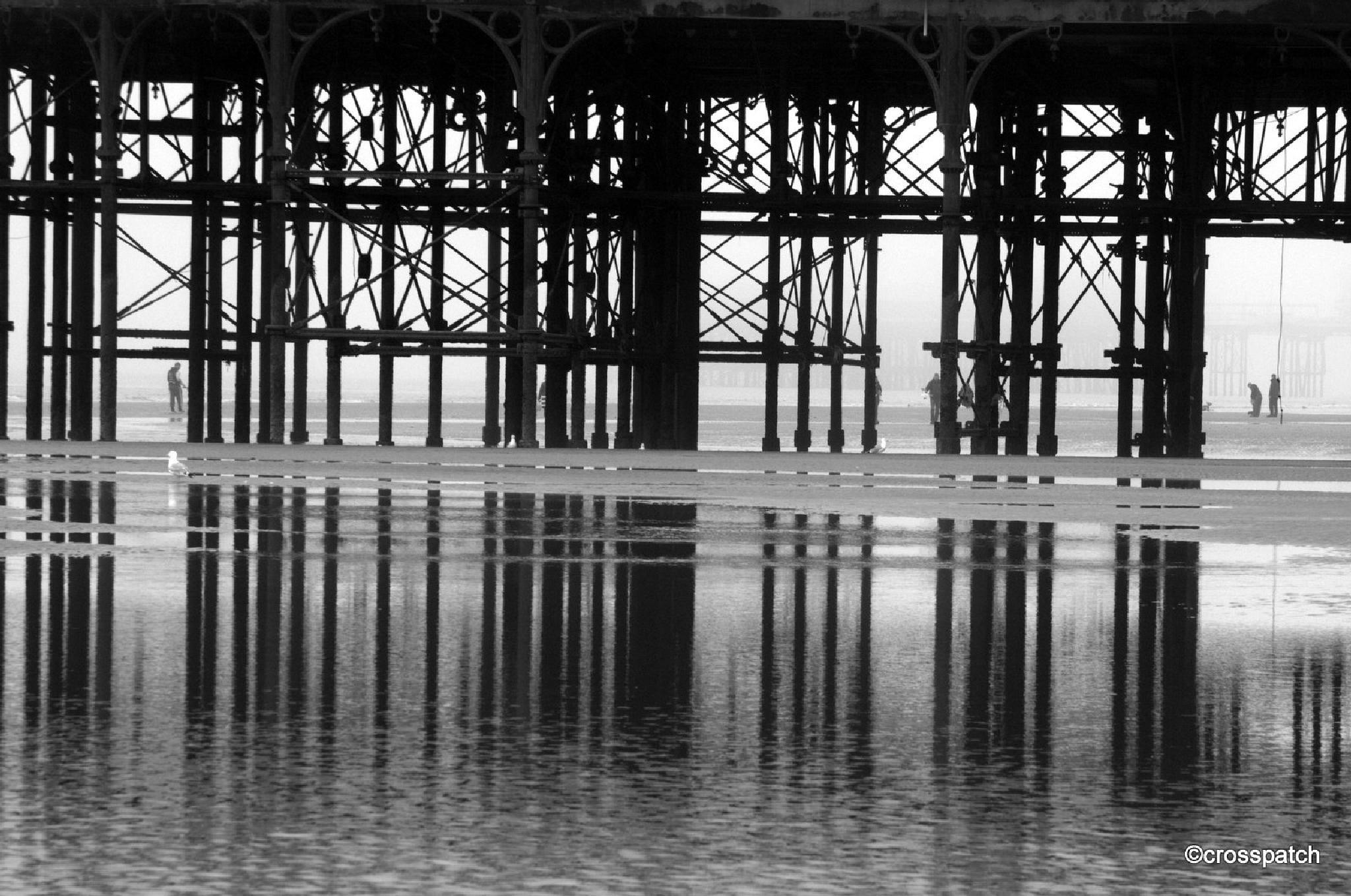 Blackpool Pier on a grey day by lison Townley