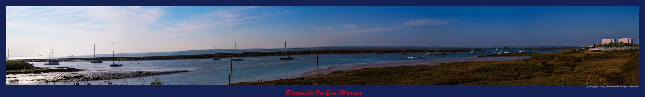 Bradwell On Sea Marina Panorama by Saami Powell