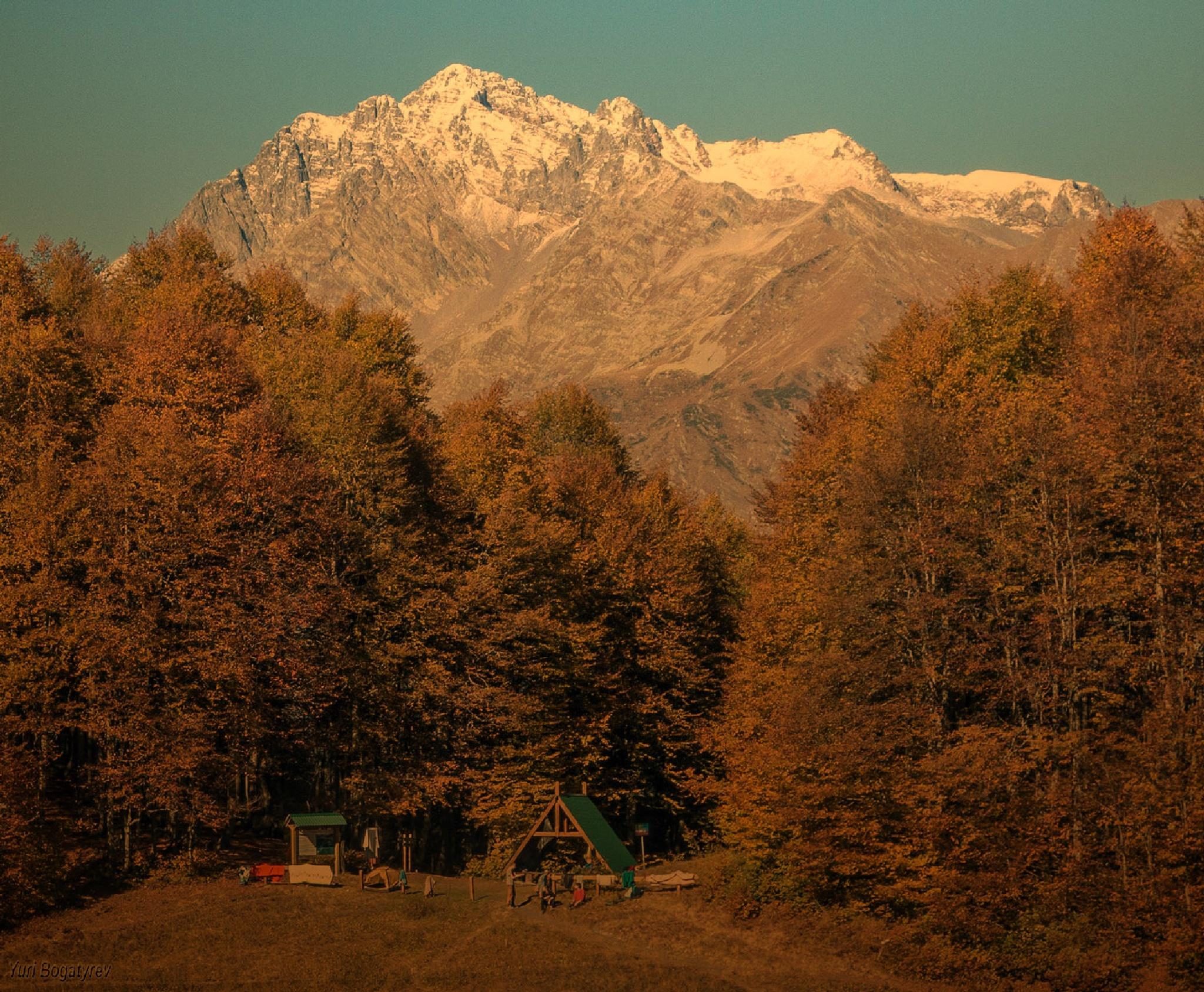 В горах Абхазии by Юрий Богатырев
