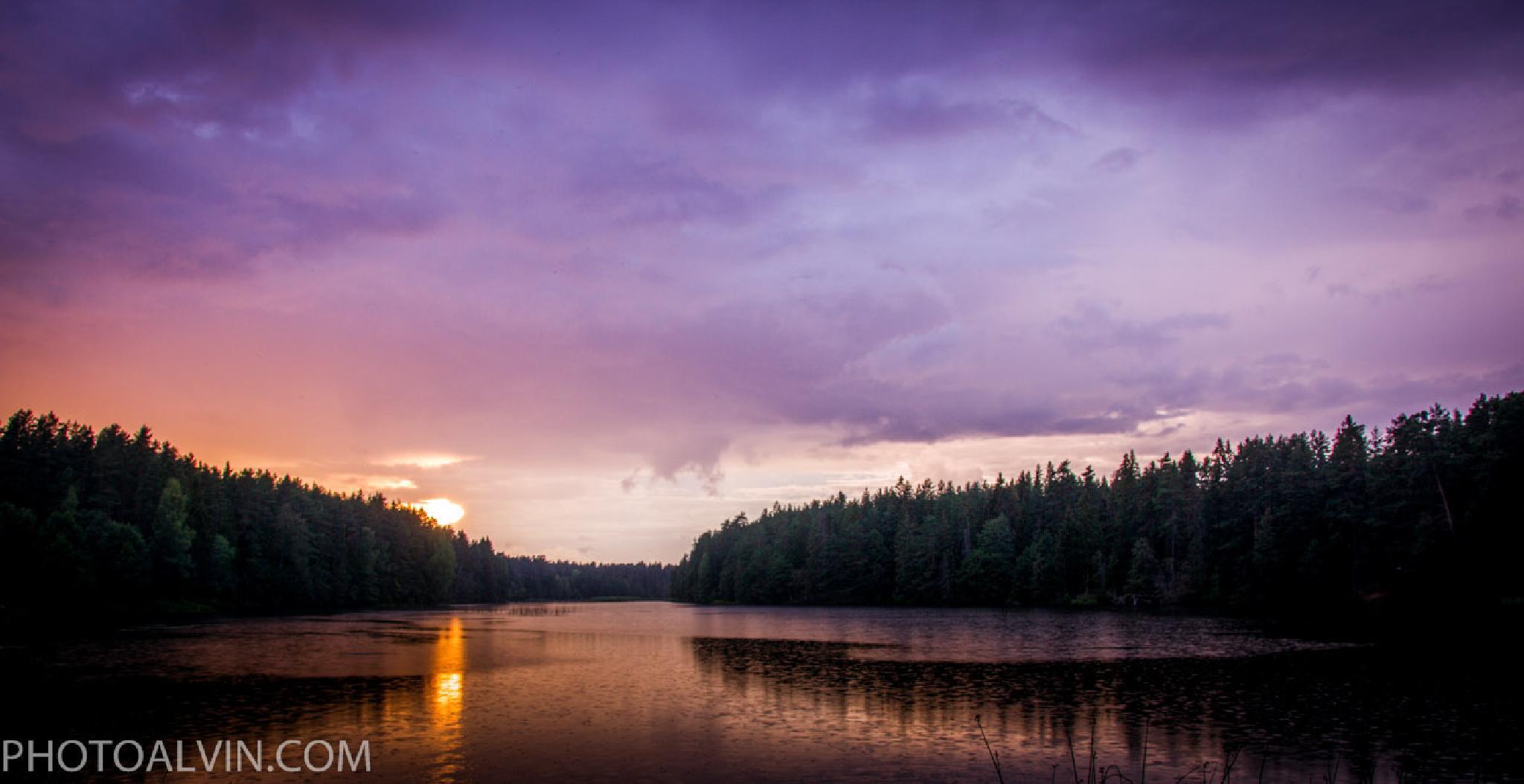 Rainy sunset by PHOTOALVIN
