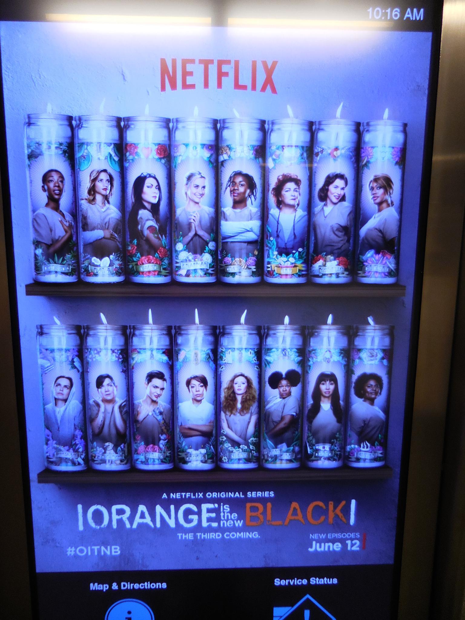Virtual Advertising-Orange is the  new black by Diana Marenfeld