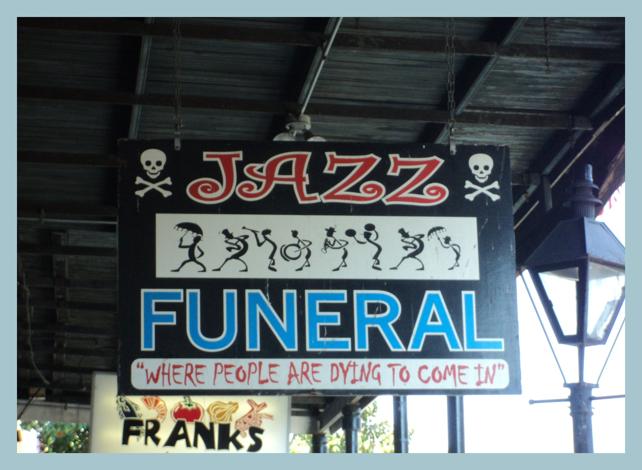 Jazz Funeral Sign by Diana Marenfeld