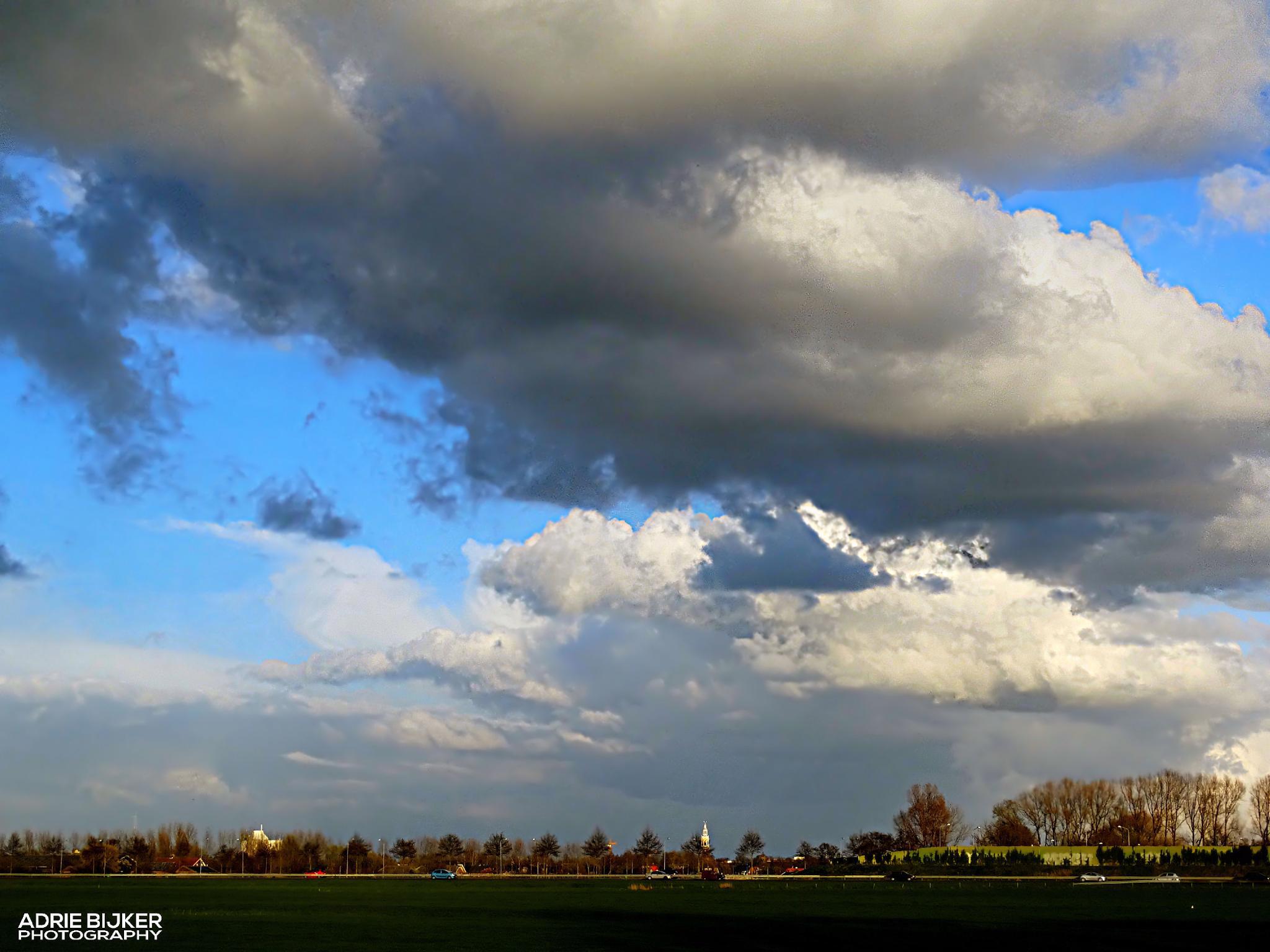 above my hometown Nijkerk by Adrie Bijker