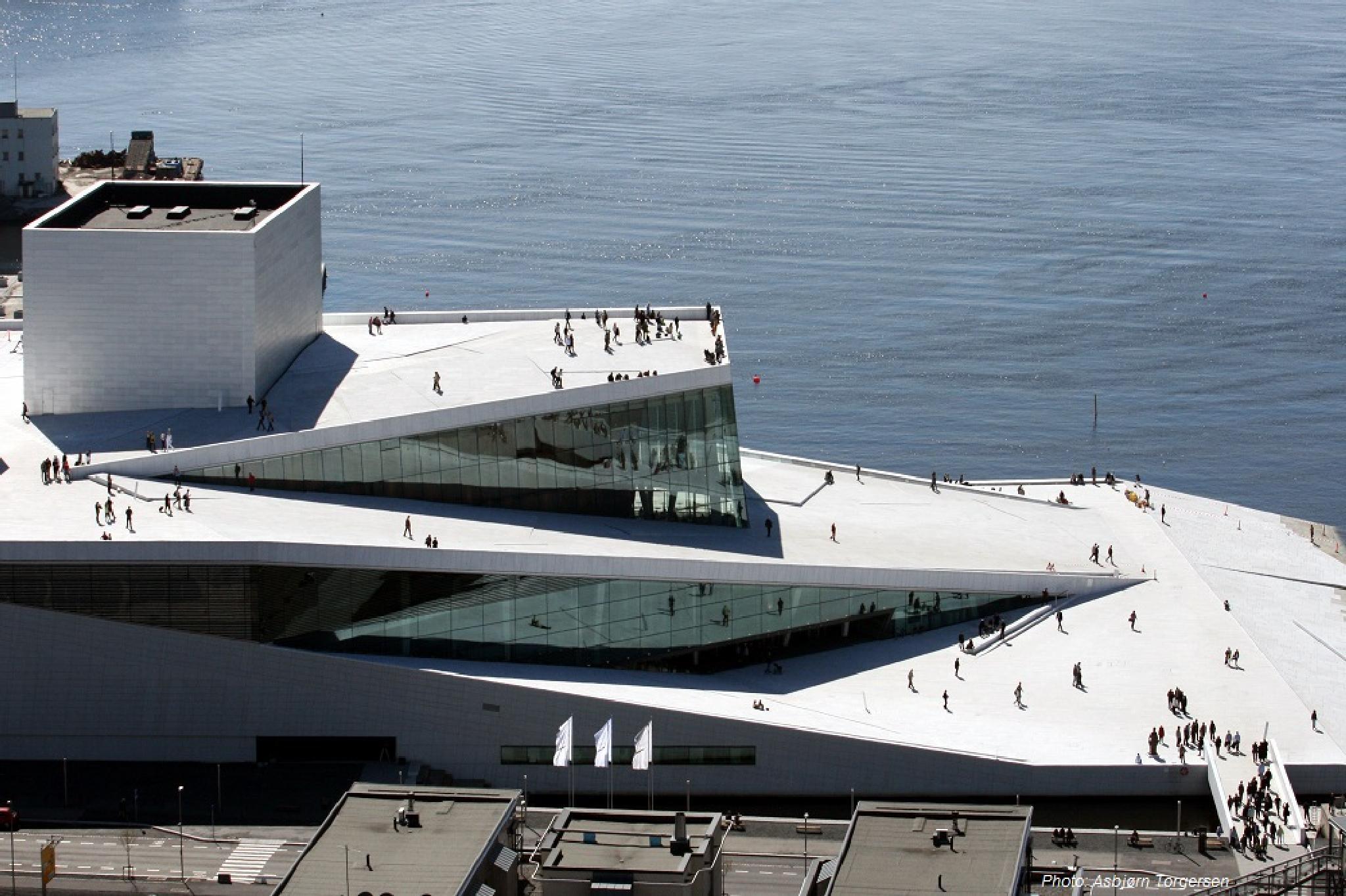 Modern building in Oslo by Asbjorn Torgersen
