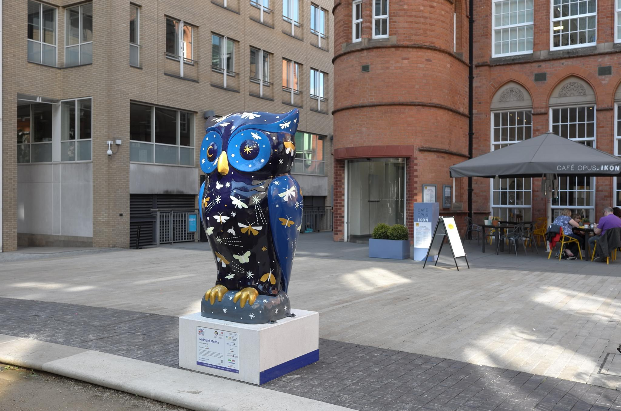 Owl outside the Ikon and Cafe Opus in Birmingham by john.coates.792