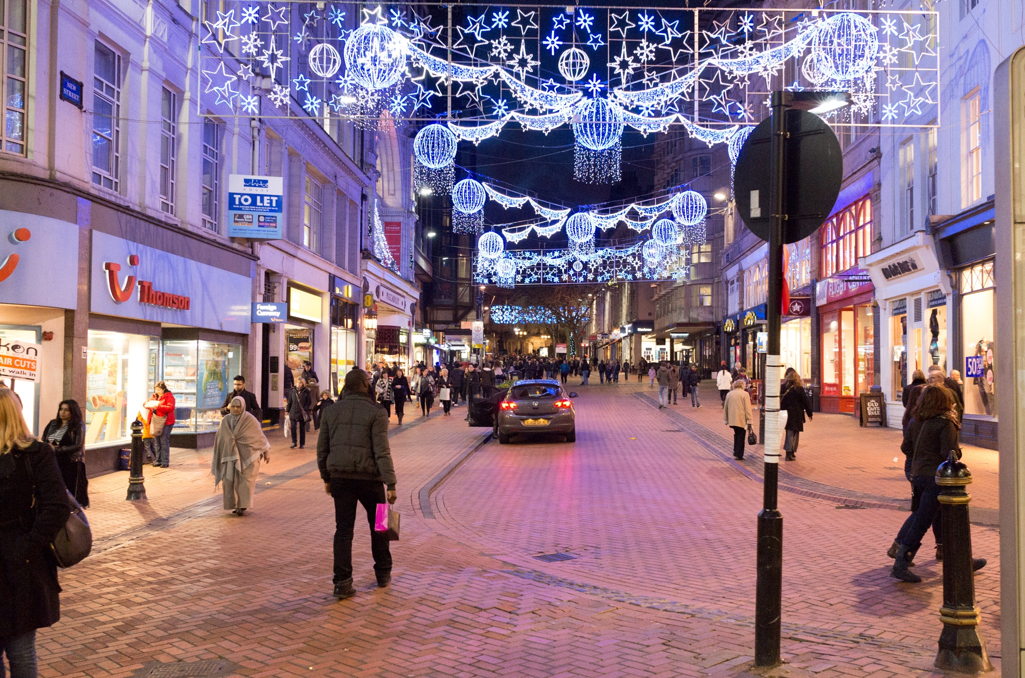 New Street, Birmingham UK, Christmas time 2015 by john.coates.792