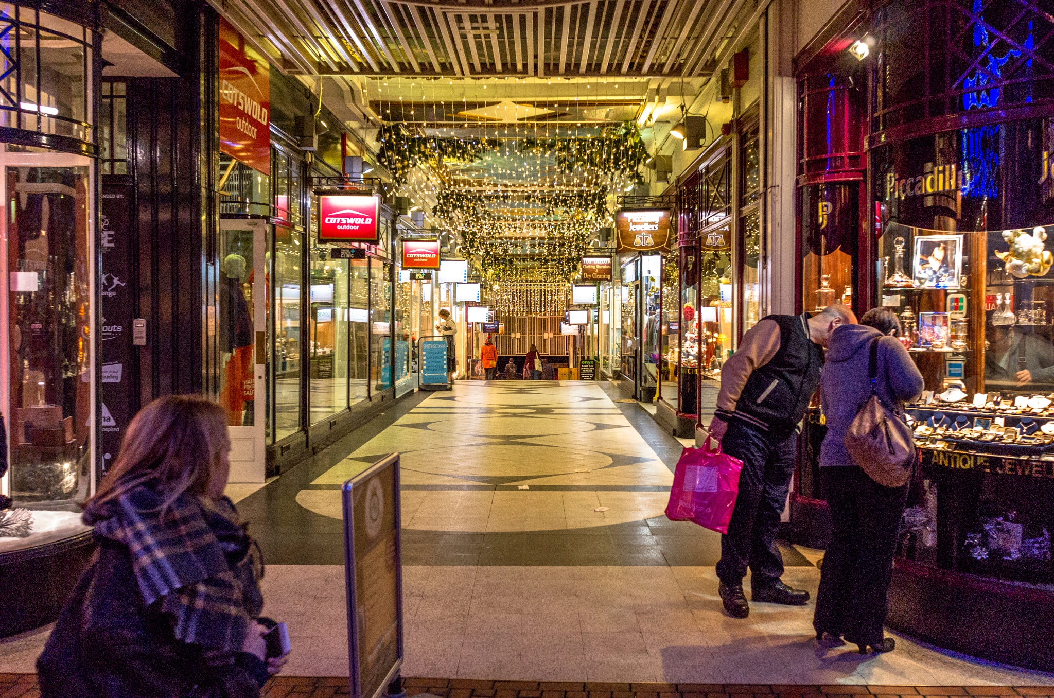 Piccadilly Arcade, New Street, Birmingham UK at Christmas time 2015. by john.coates.792