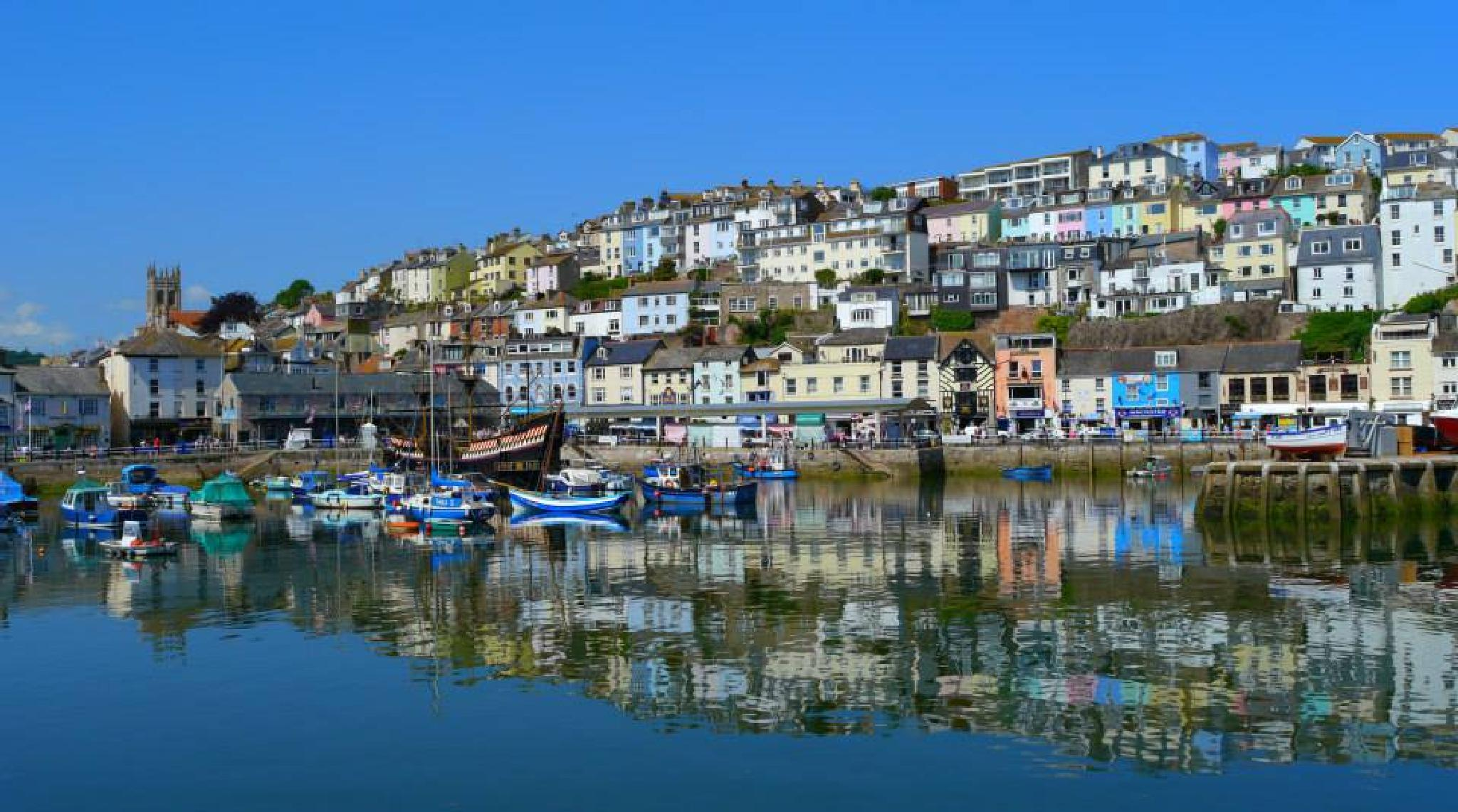 Reflecting on Brixham Harbour by Dave & Tatiana Williams