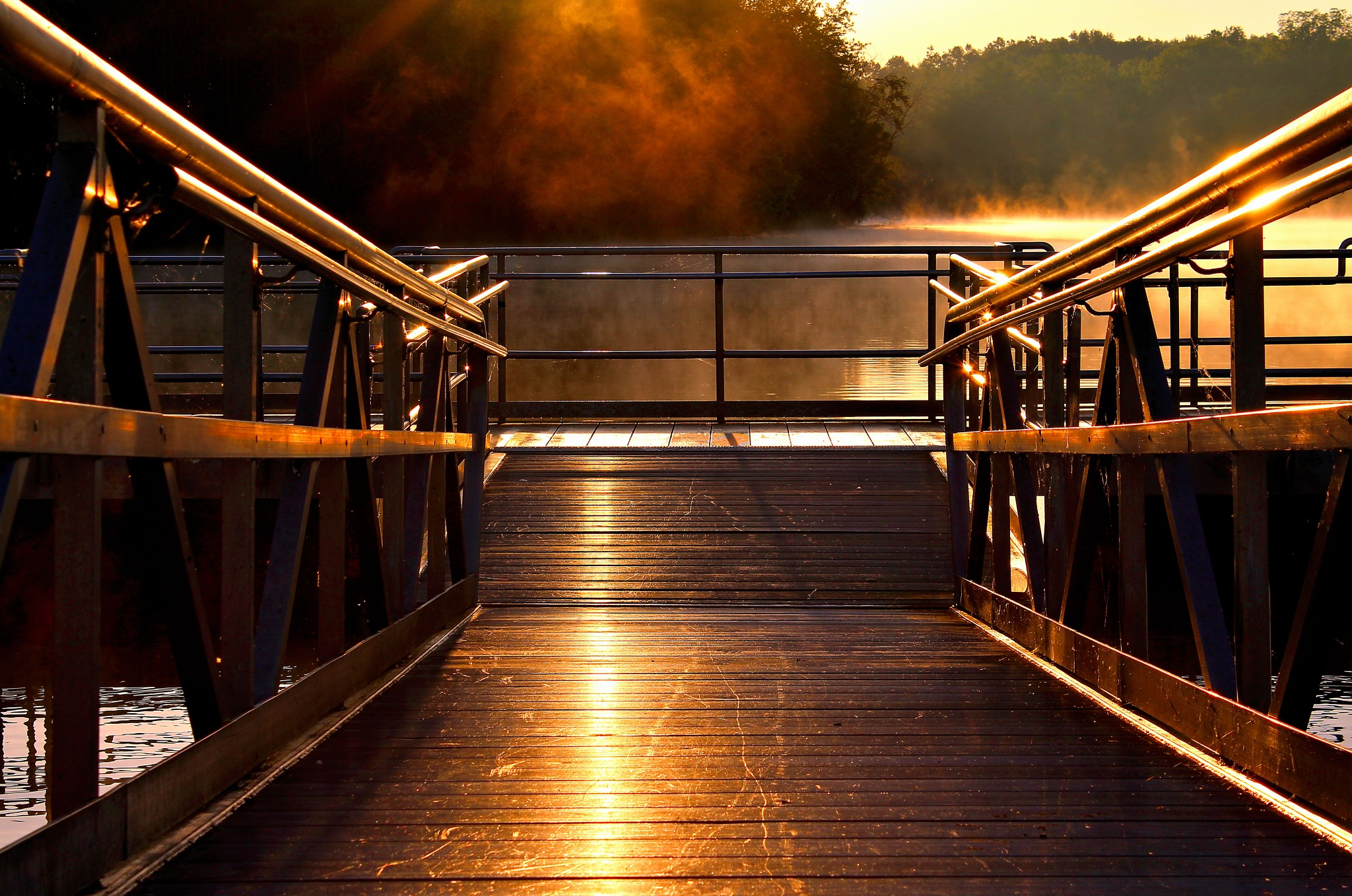 early morning Dock by sherry.laydaugherty