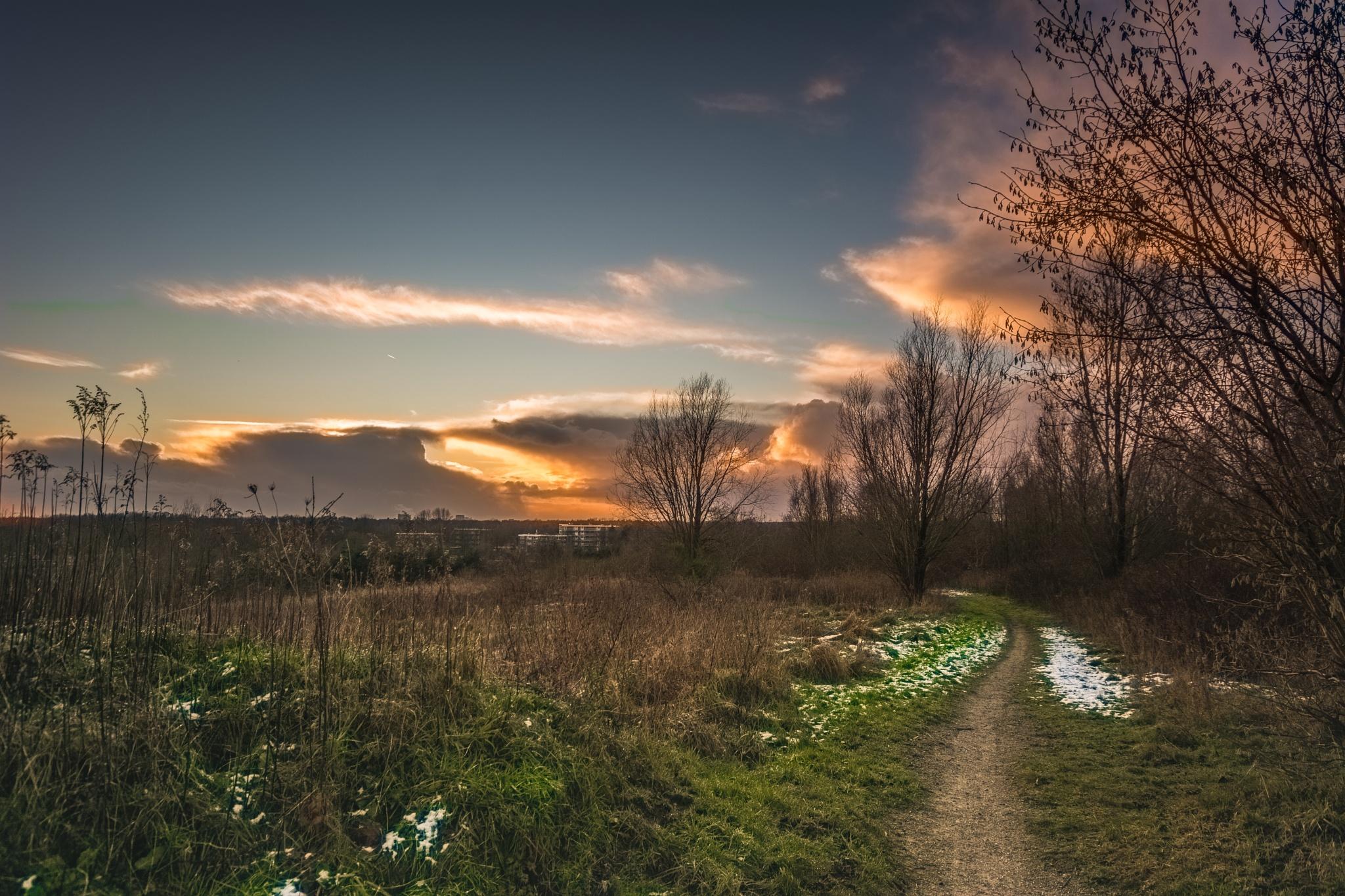 Sunset, Emmen 16-01 by TaraKiekt.nl