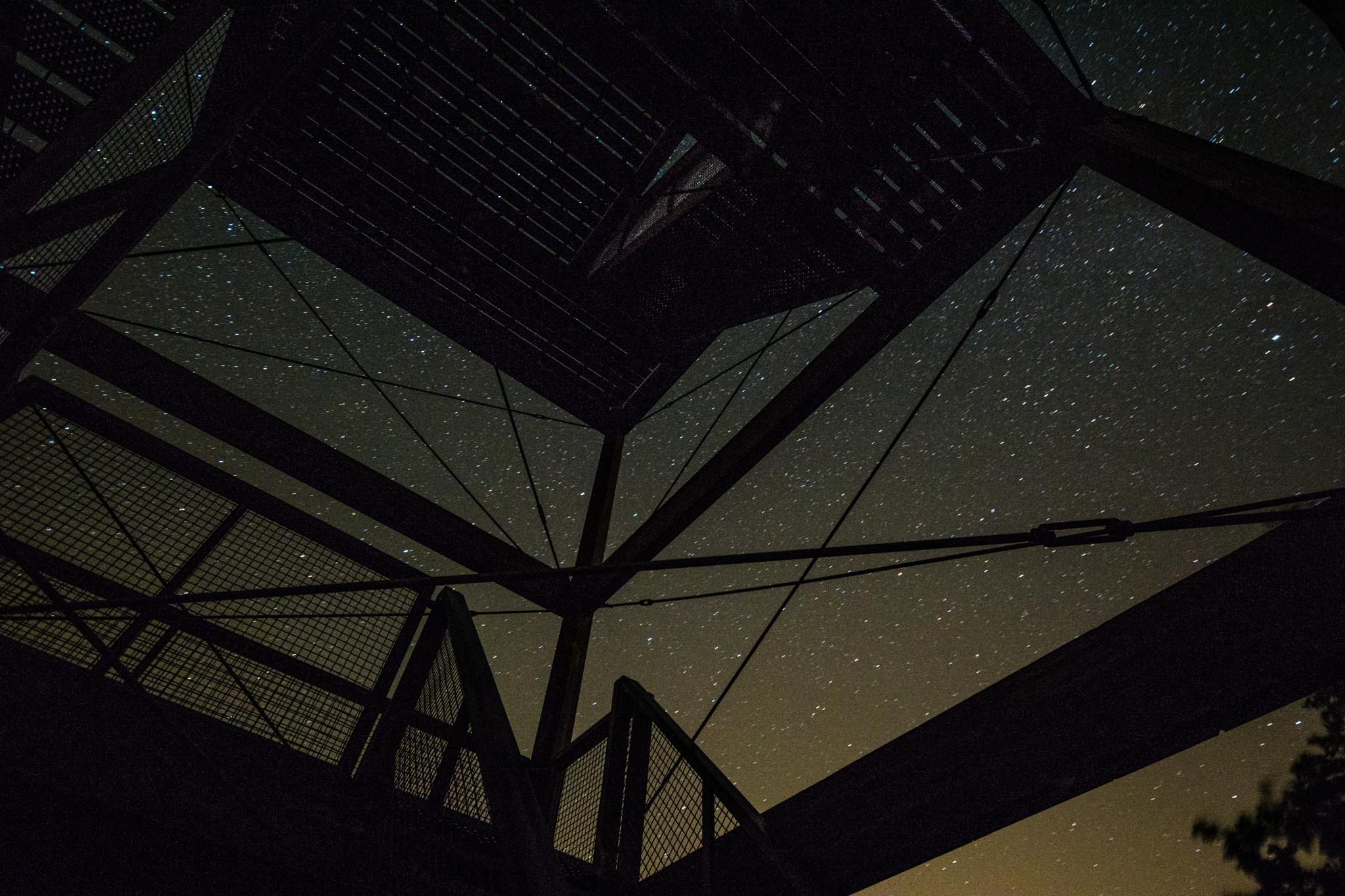 sky by  night seen from a watchtower by TaraKiekt.nl
