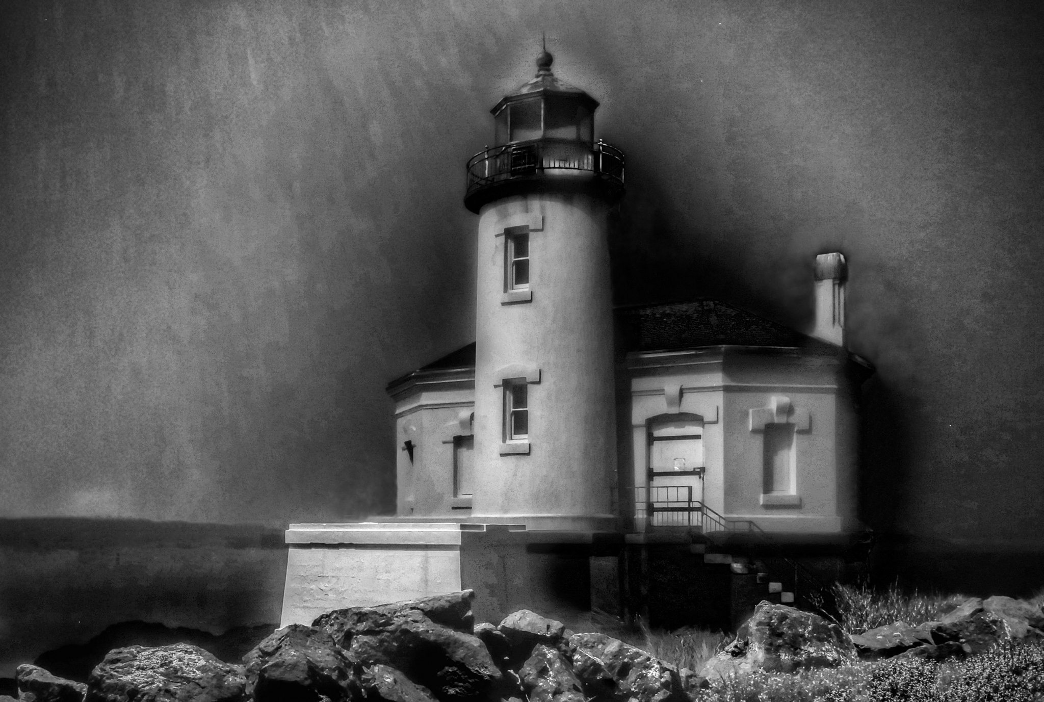 Coquille River Lighthouse, Bandon, Oregon by Catherine