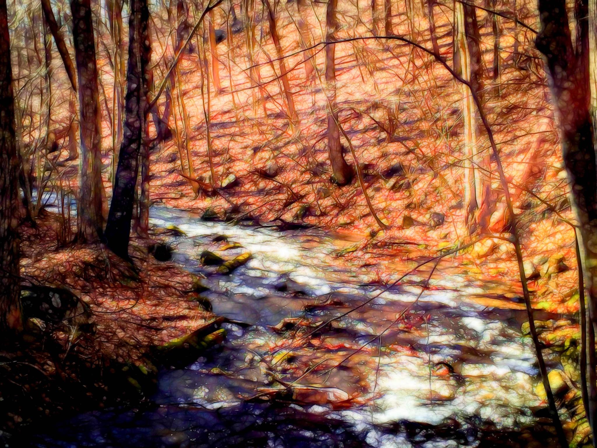 Stylized Stream II by Catherine