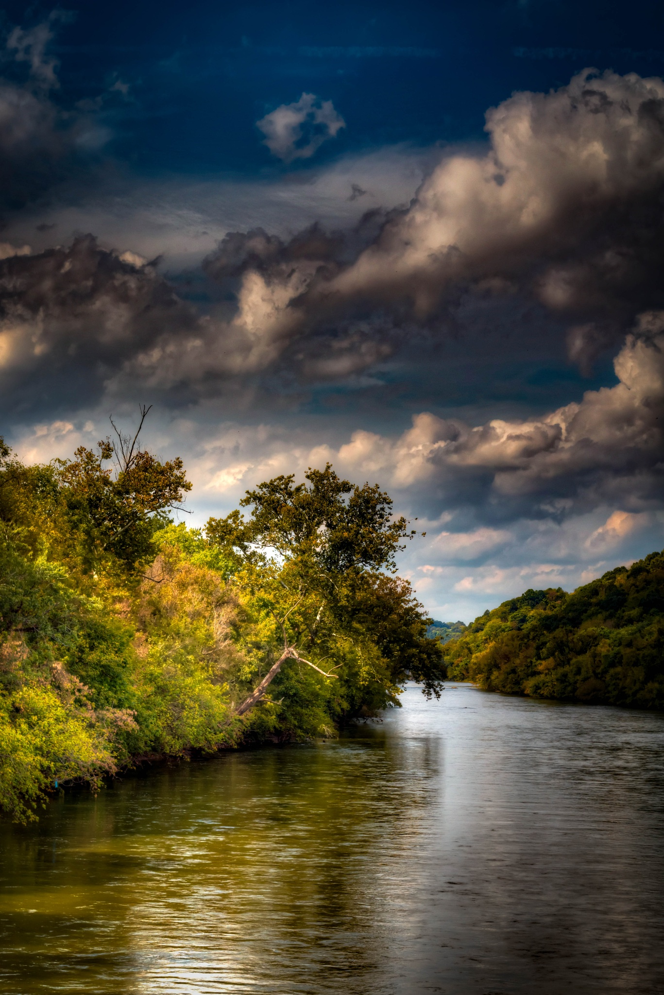 James river from train tressle at Riverside Park, Lynchburg II by Catherine