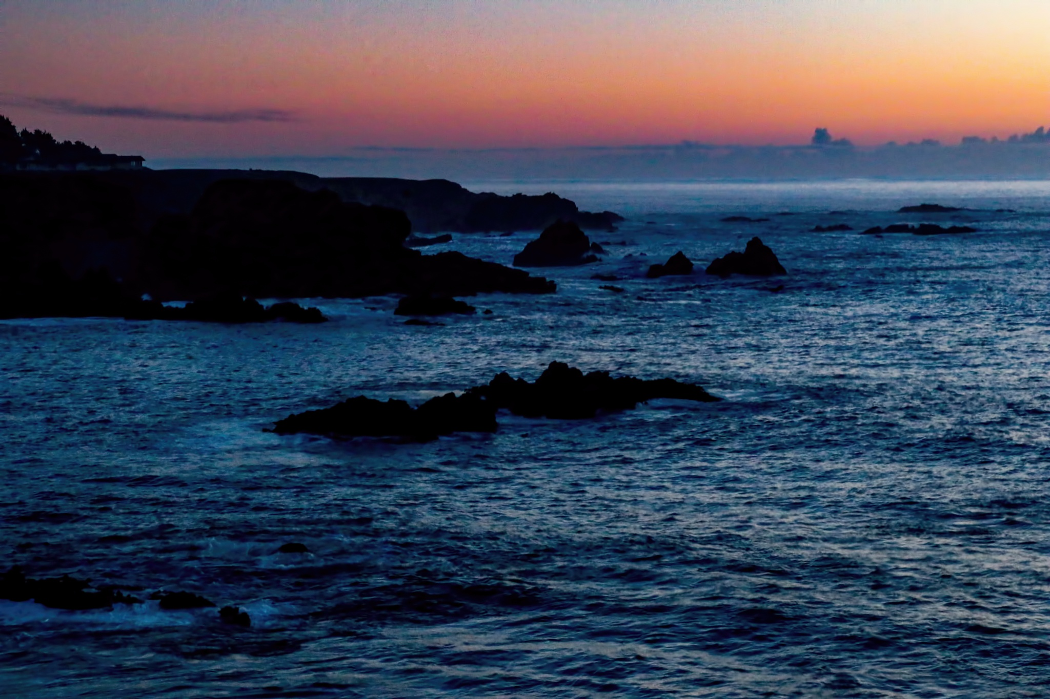 Hazy Sunset on Pacific Ocean by Catherine