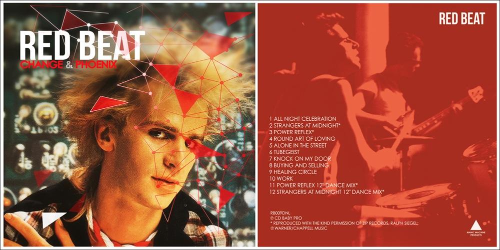 """RED BEAT """"CHANGE & PHOENIX"""" CD ARTWORK by Paul Baker Jones"""