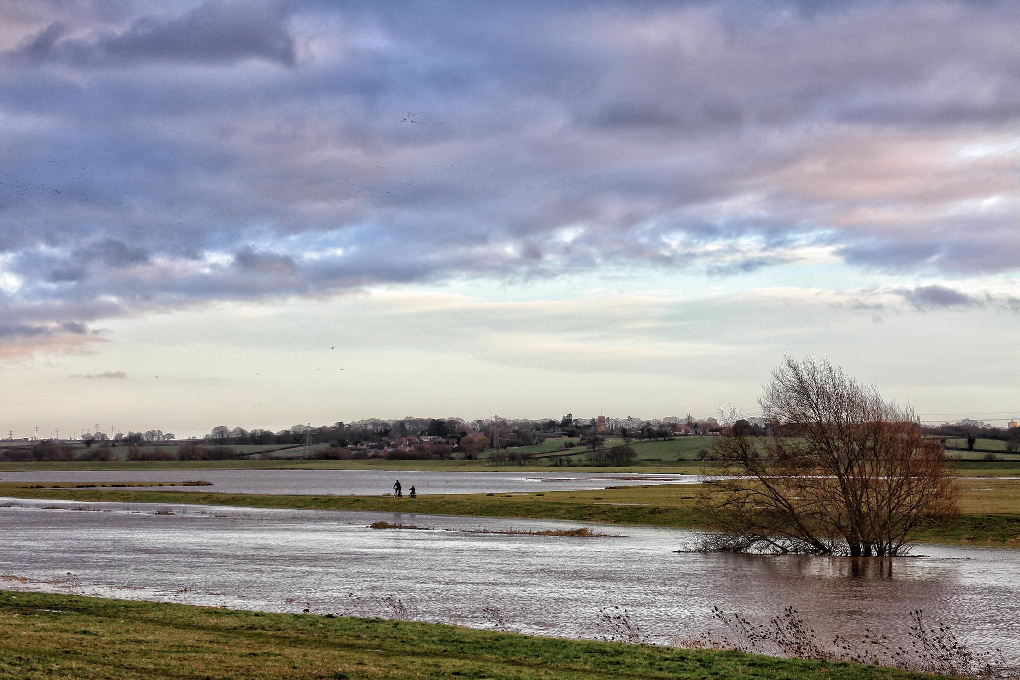 Floodwater Northampton  by Luke Barklamb