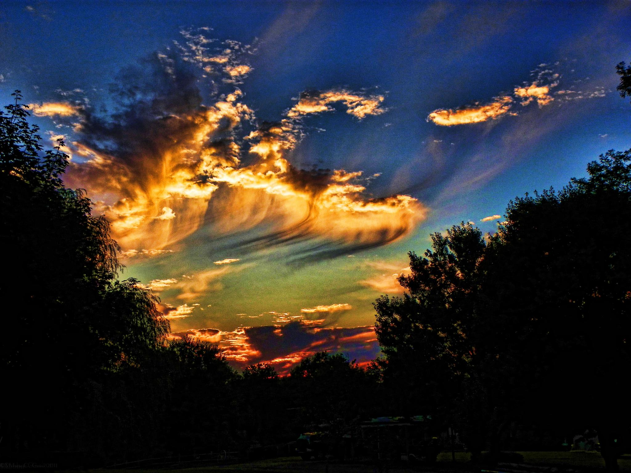 Photo in Astrophotography #powerful #sky #sunset