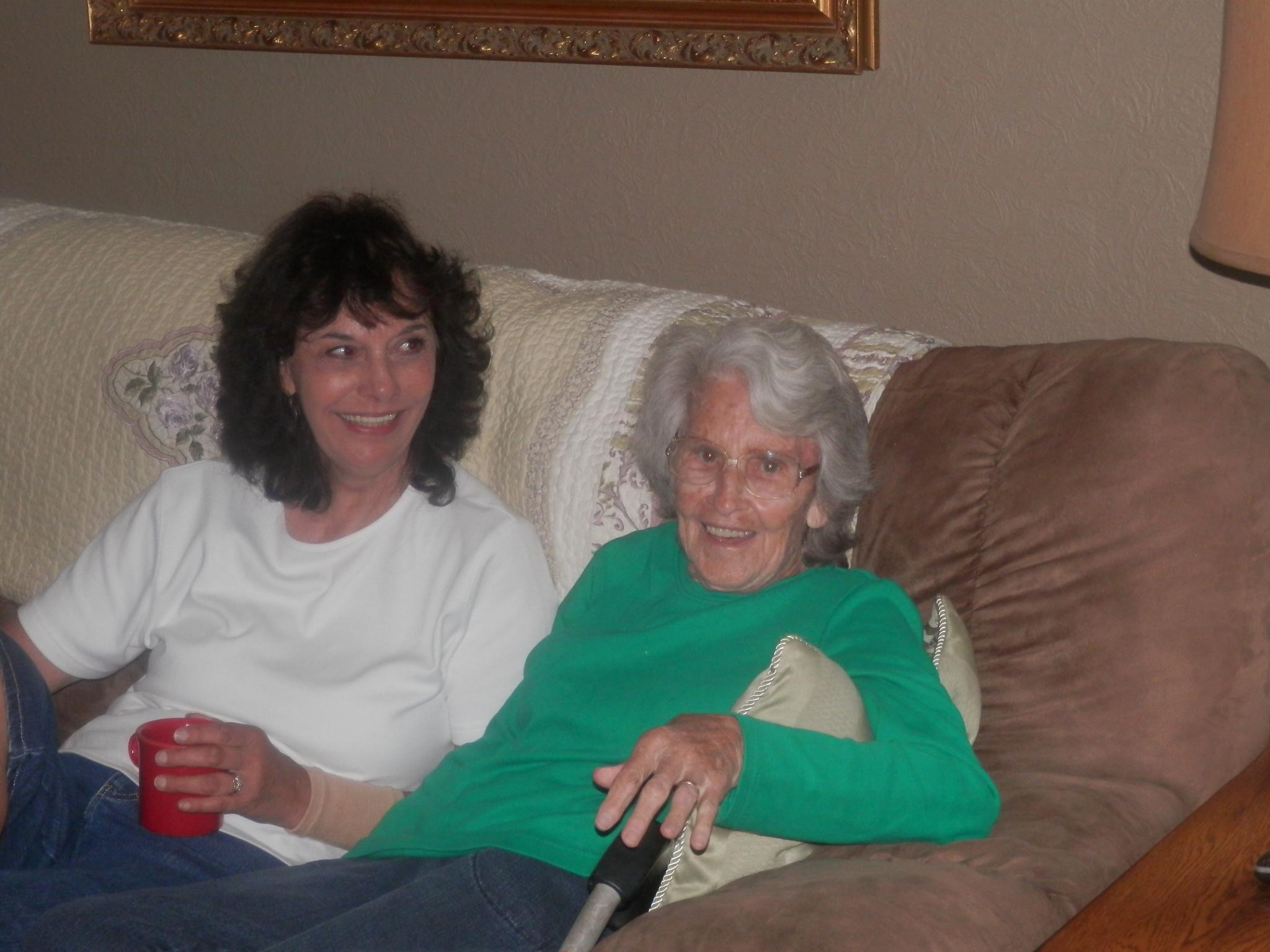 aunt brenda and grandmaw, a rare shot by some1sangel