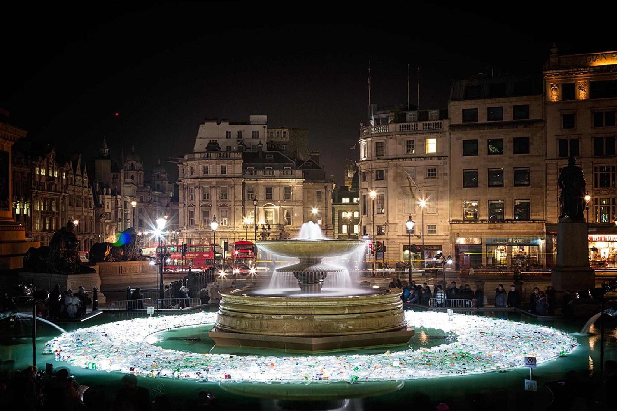 Plastic Islands at Trafalgar Square by cat66chapman