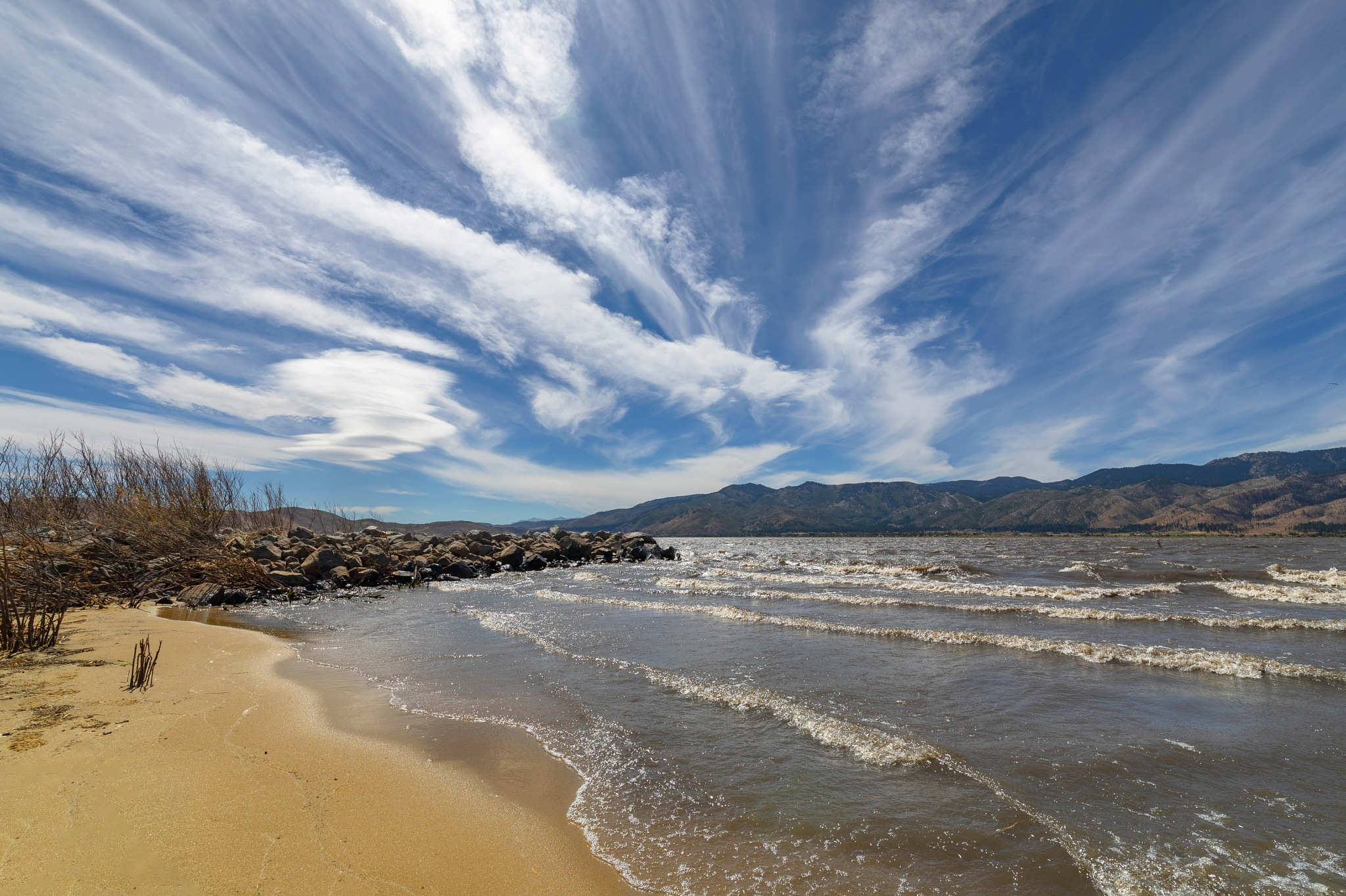 Cloud Display at Washoe Lake yesterday by Ed Stilwell