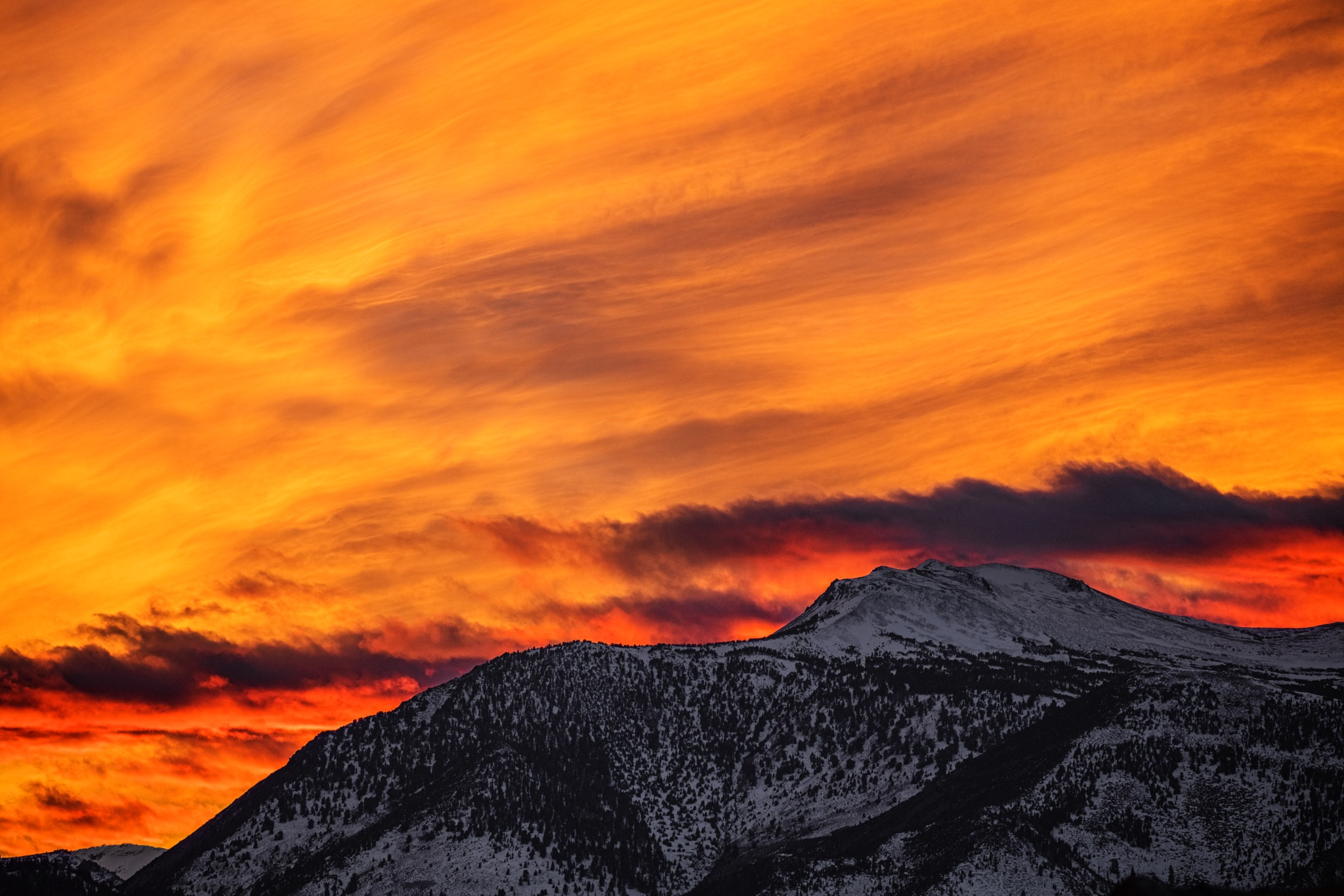 Mountain Sunset by Ed Stilwell