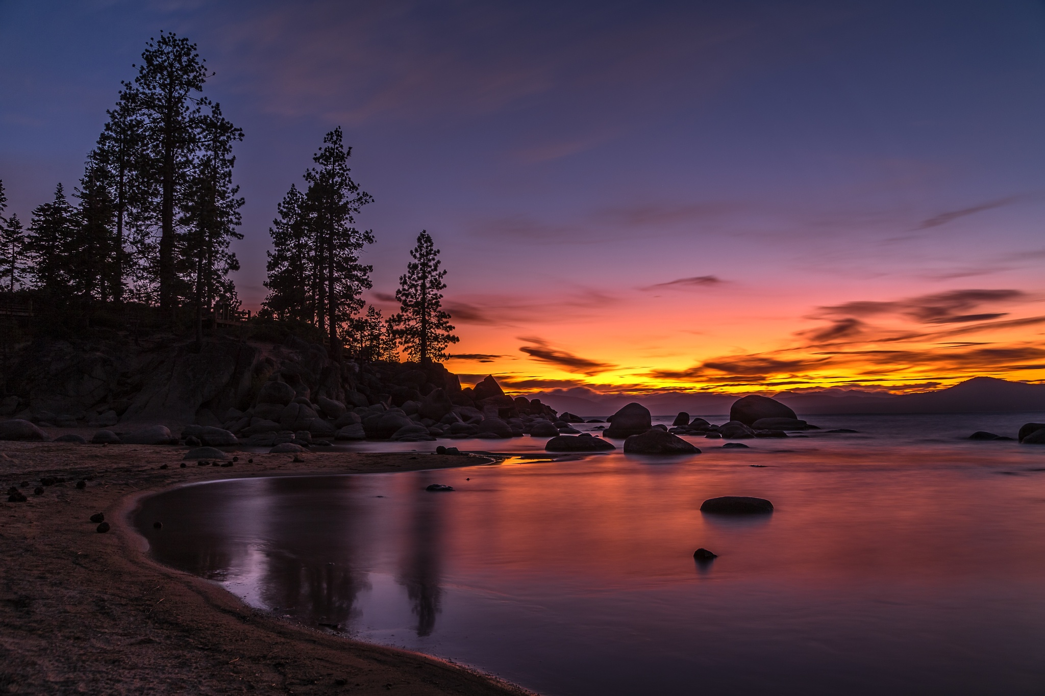 Tahoe Sunset by Ed Stilwell