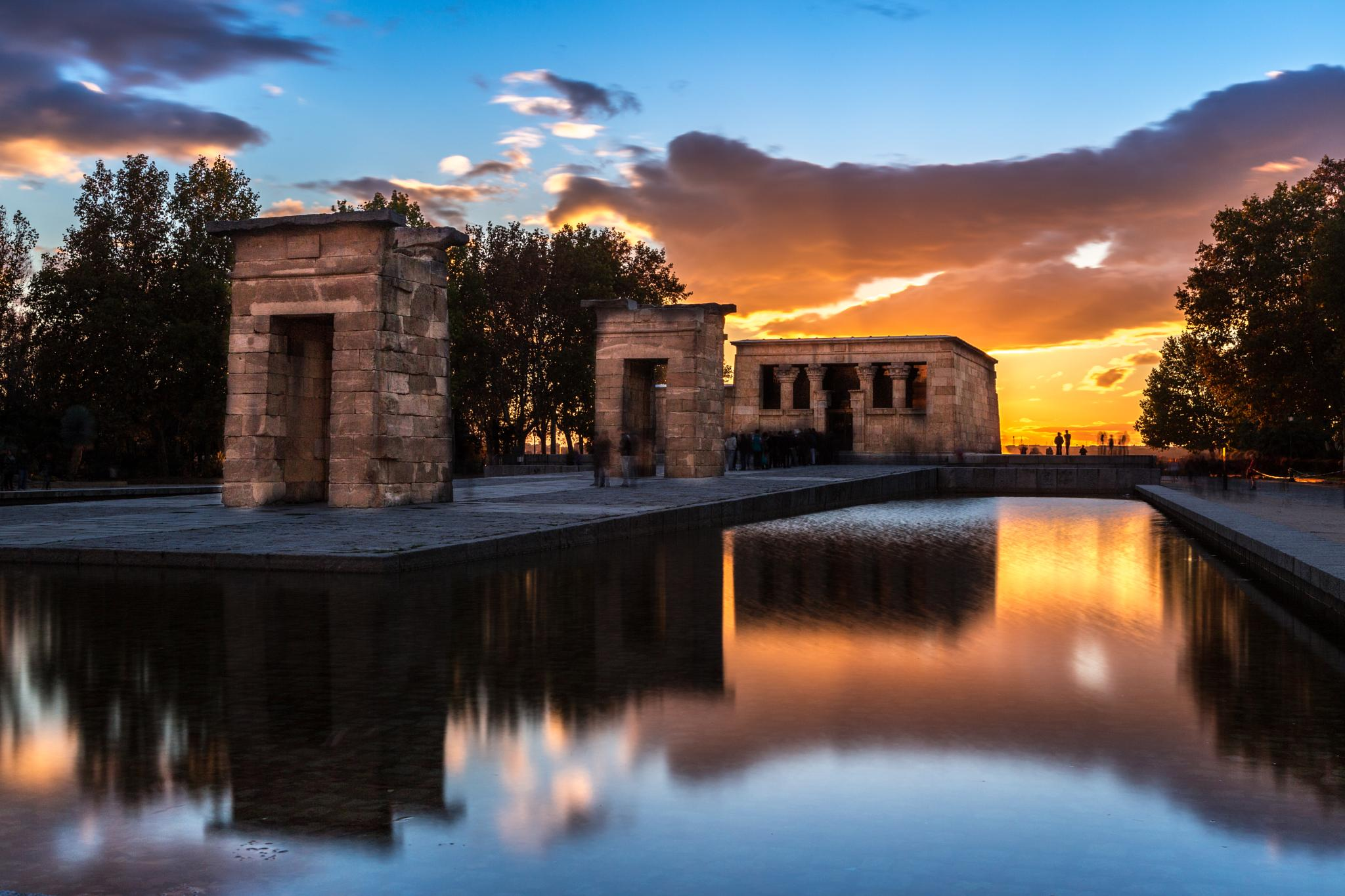 Debod temple by Ana Gomez