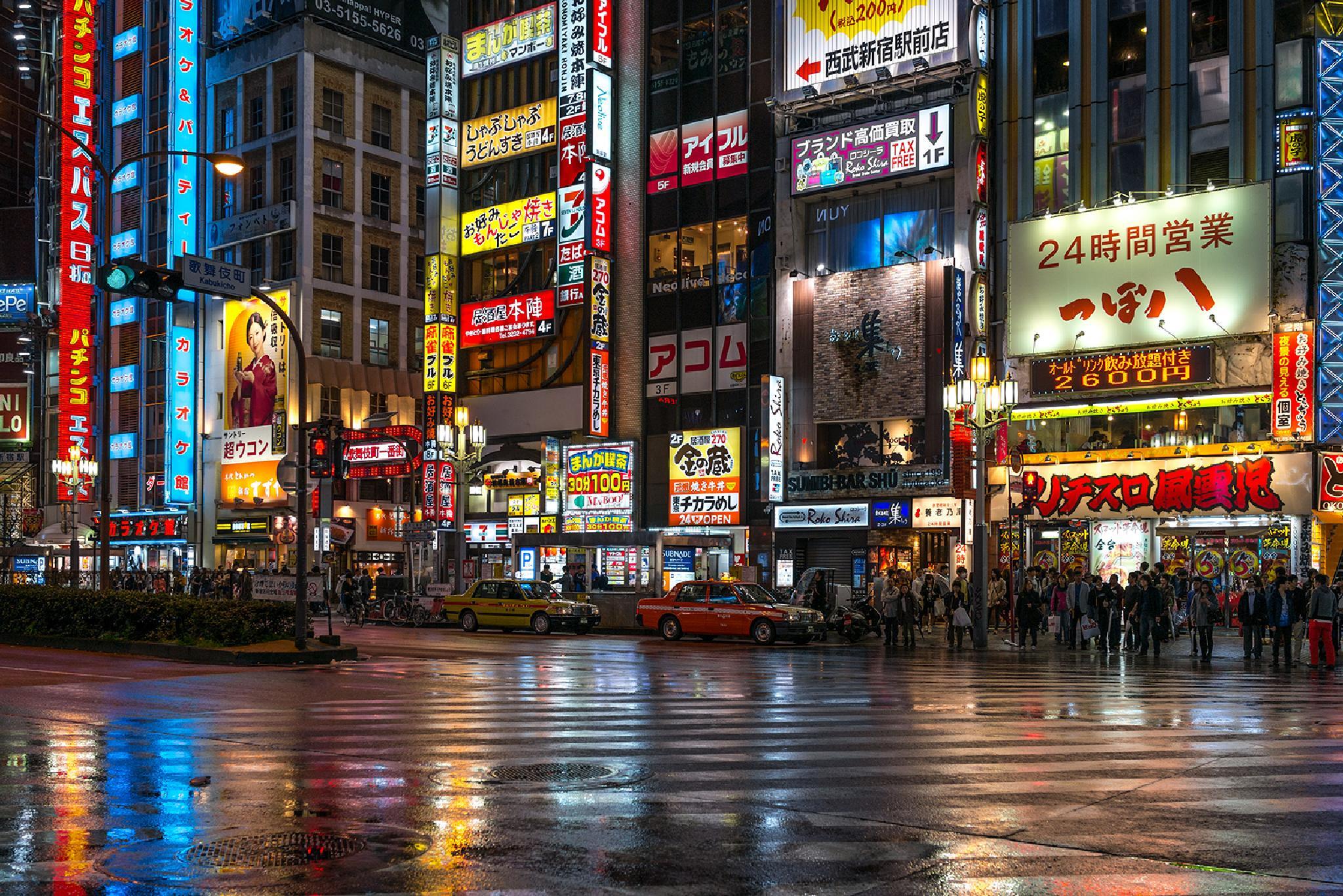 Tokyo at night by Ana Gomez
