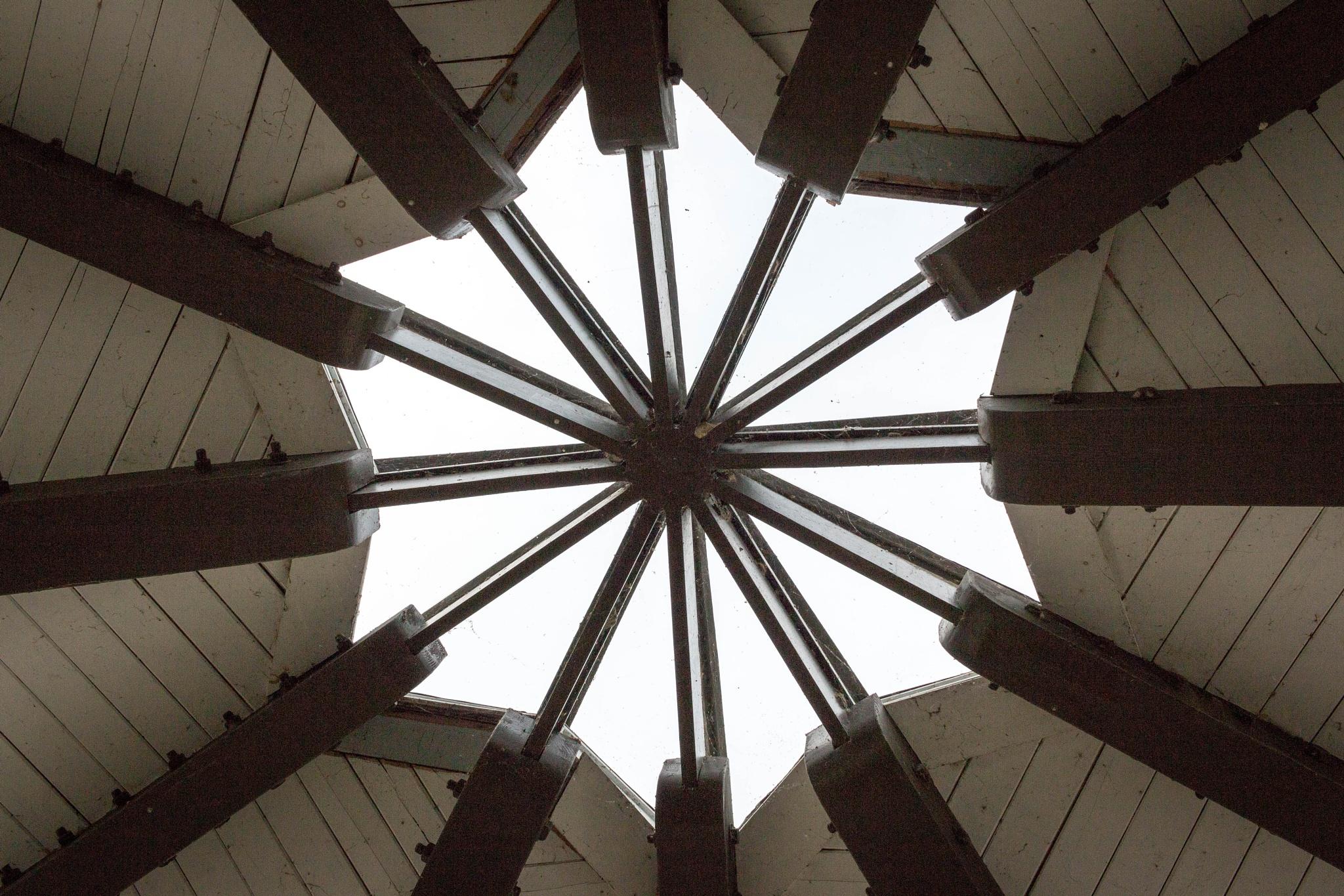 Center of a big Gazebo  by Lenora Clark