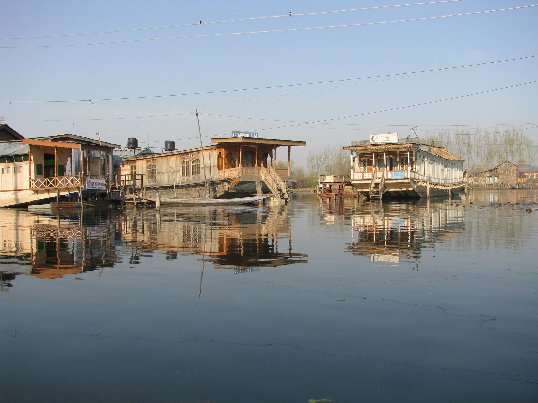 Photo in Travel #house boats lake reflection