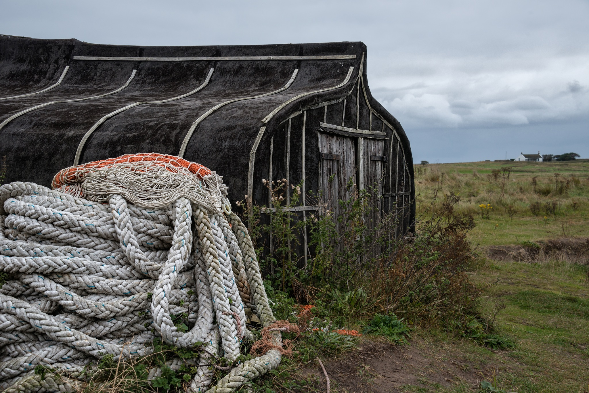 Holy Island Upturned Boat by KarenT